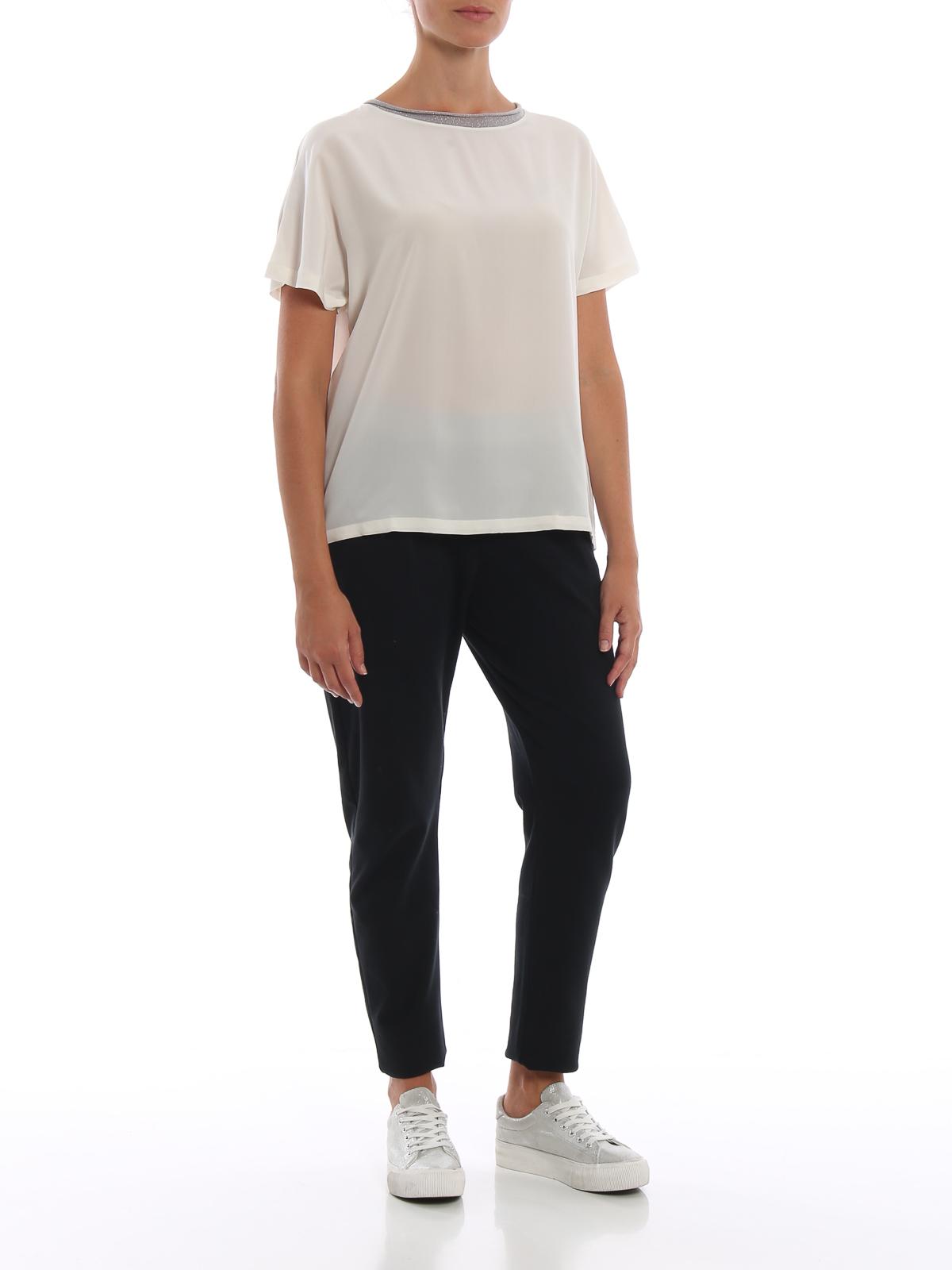 Silk short-sleeved blouse PAOLO FIORILLO CAPRI | 10000004 | 6120252713999
