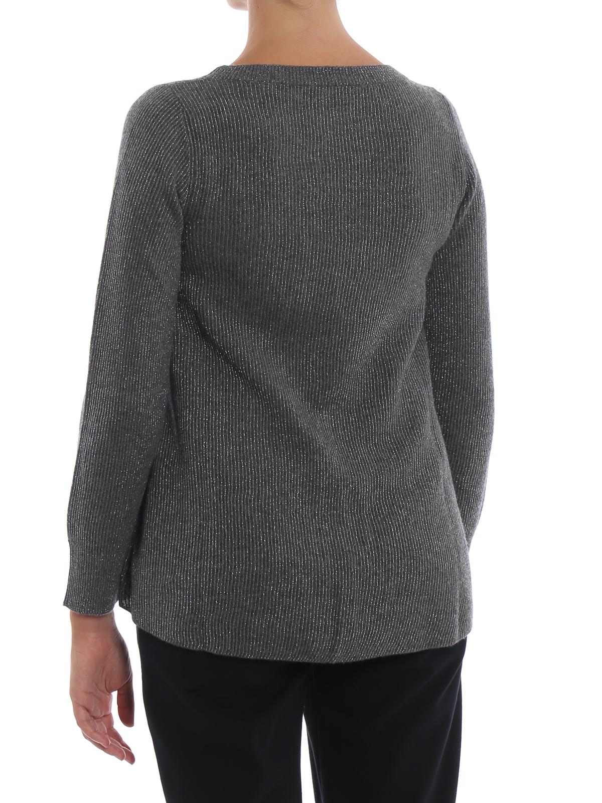 Grey crew neck sweater with lurex detail PAOLO FIORILLO CAPRI | 7 | 65171330