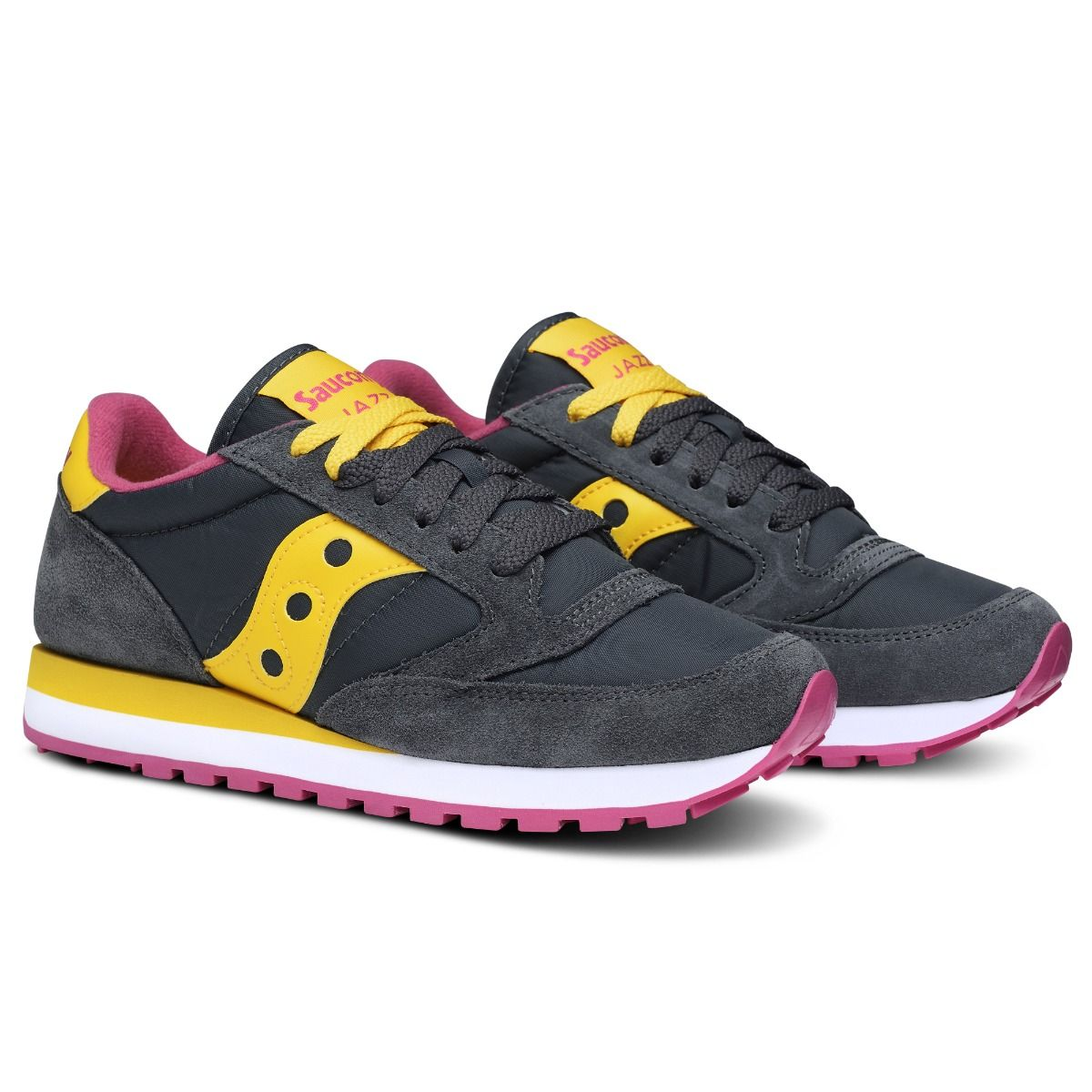 sale retailer 34a85 4d085 Saucony Originals Jazz O' Dark Gray/Yellow