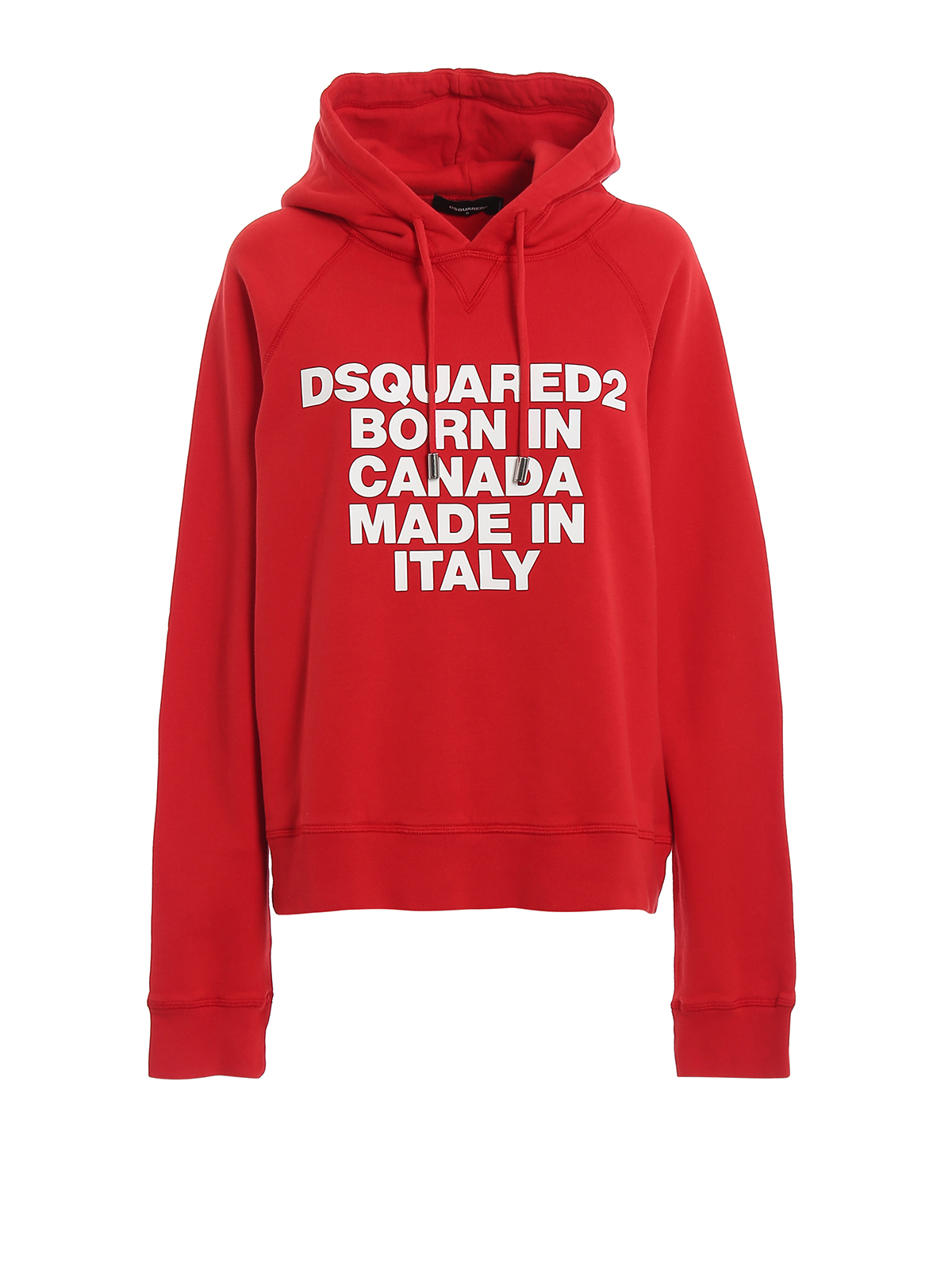 Rubberized print red hoodie DSQUARED2 | -108764232 | S75GU0220S25030307