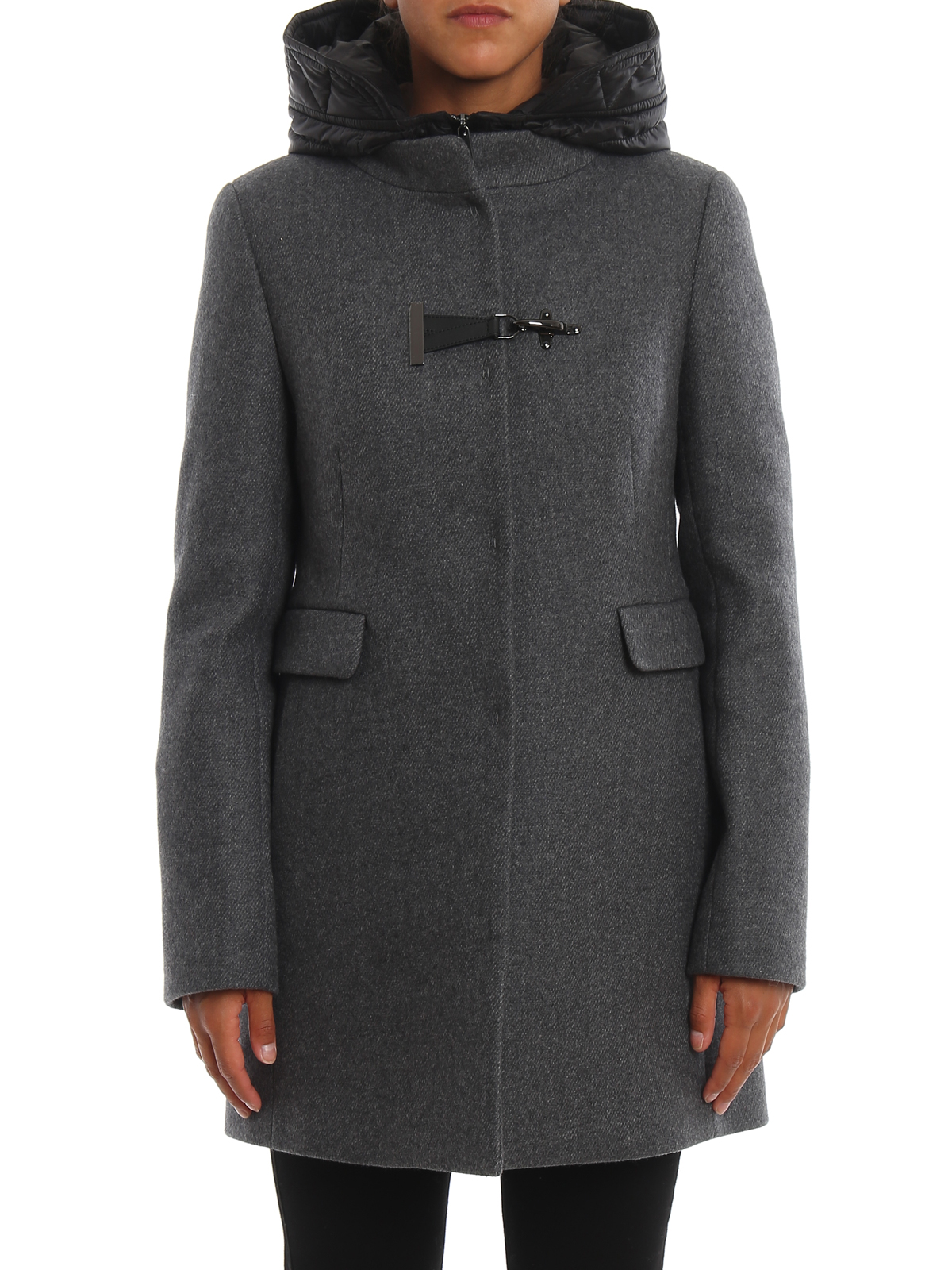 Toggle double front hooded coat FAY | 18 | NAW59393430RKHB802