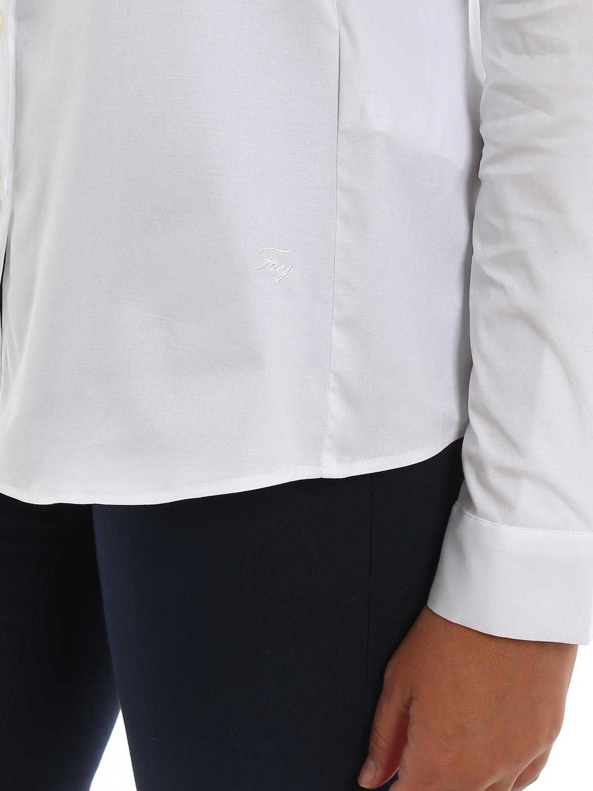 White fitted shirt FAY | 6 | NCWA139565SORMB001