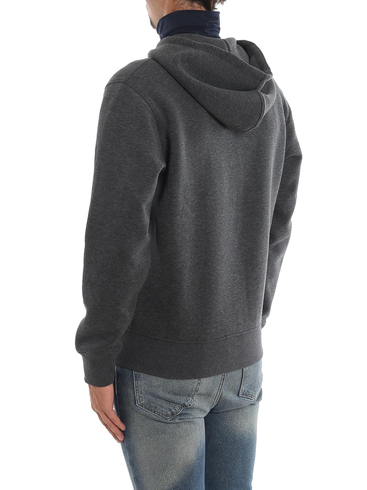 Grey zipped hoodie FAY | -108764232 | NJMB5391320QEHB402