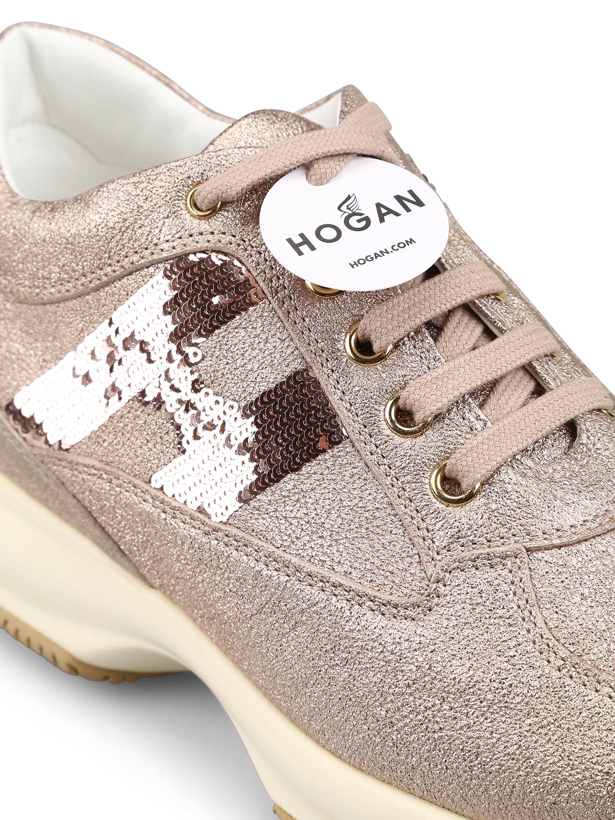 Interactive sequined monogram sneakers HOGAN | 12 | HXW00N05640LF5M002