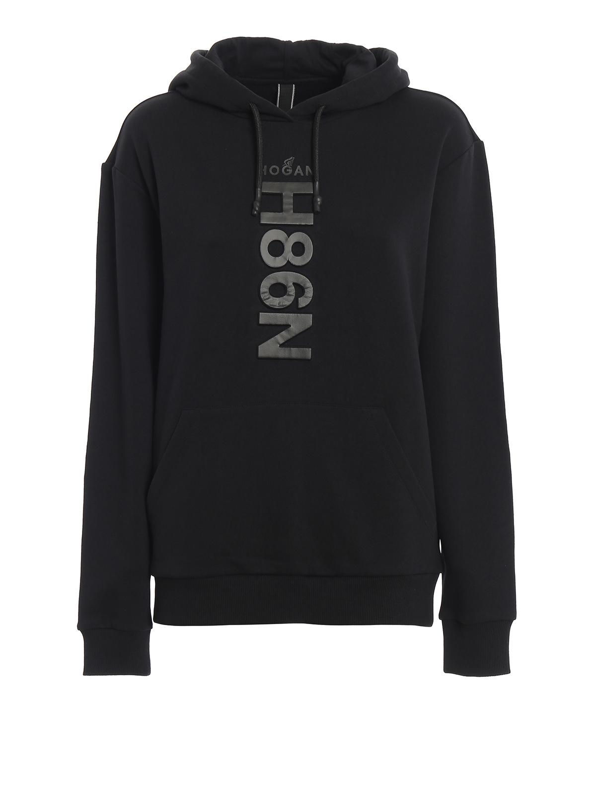3D logo black cotton hoodie HOGAN | -108764232 | KQWB5390500PXFB999