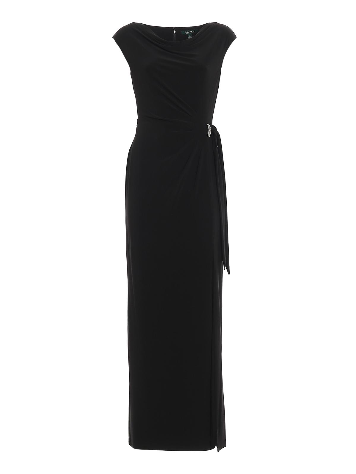 Jewel detail jersey long dress RALPH LAUREN | 11 | 253751448004BLACK