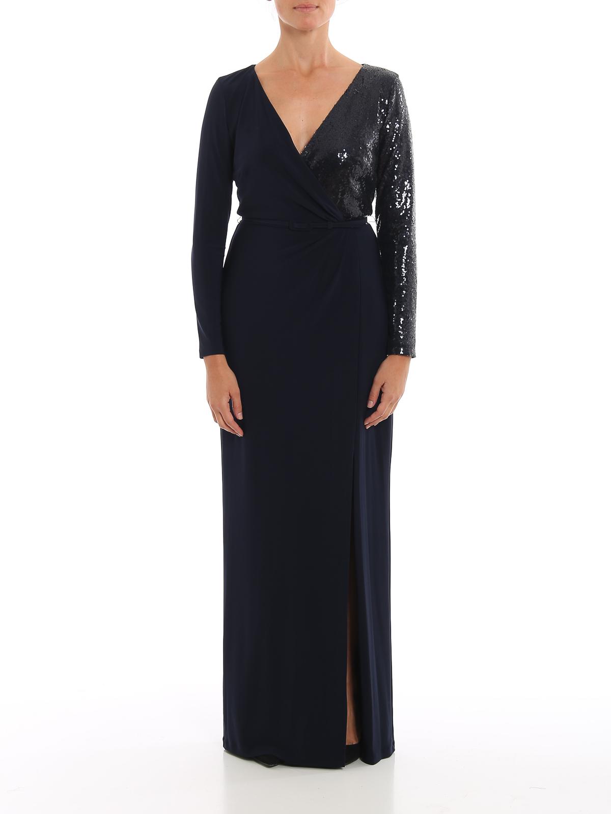 bellamy-long sleeve-evening dress RALPH LAUREN | 11 | 253751493002LIGHTHOUSE NAVY