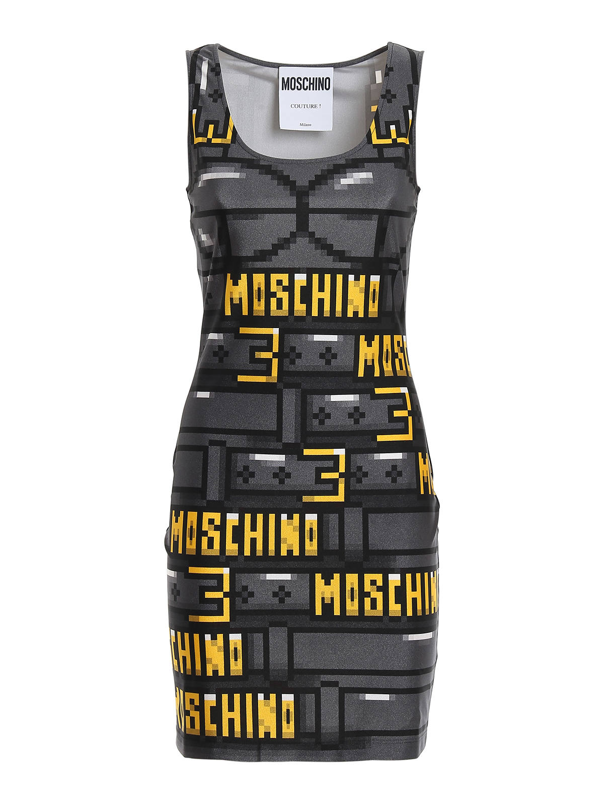 Abito in lycra con stampa pixel MOSCHINO | 11 | 04769151A1555