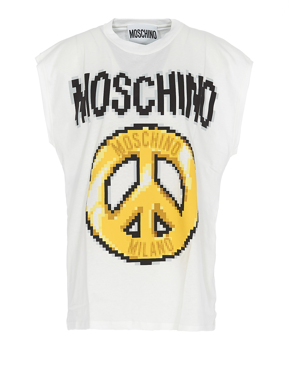 T-shirt con stampa Peace Pixel MOSCHINO | 40 | 12799140A1002