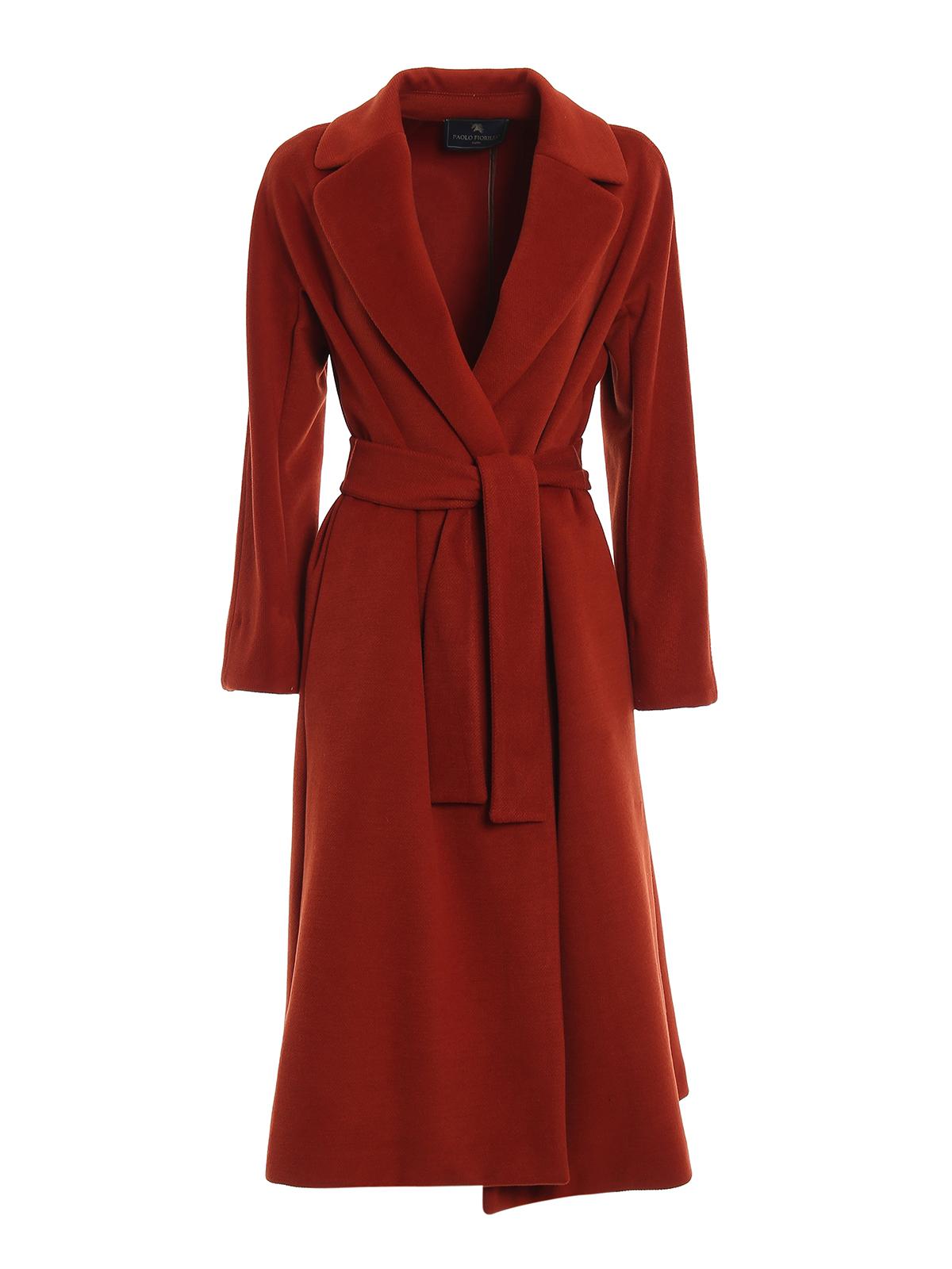 Soft cloth wrap coat PAOLO FIORILLO CAPRI | 17 | 25312993MATTONE