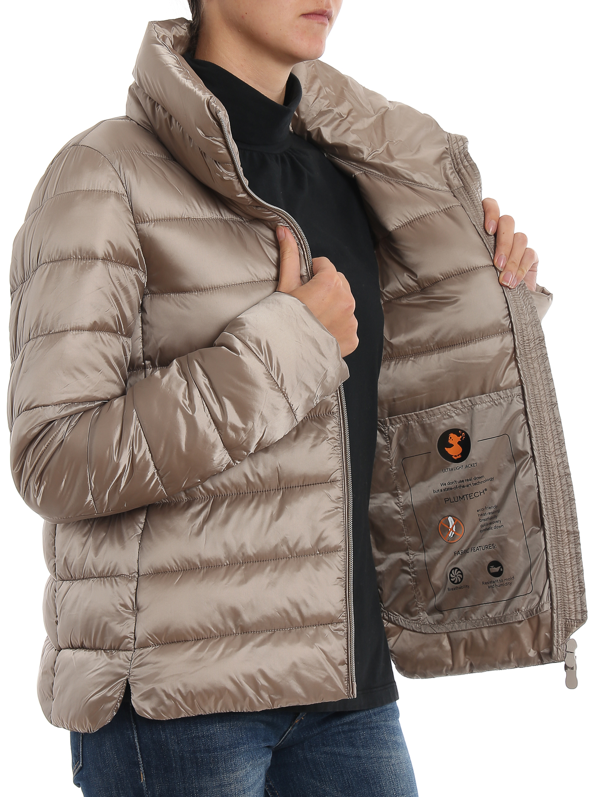 Funnel collar nylon puffer jacket SAVE THE DUCK | -276790253 | D3052WIRIS900144