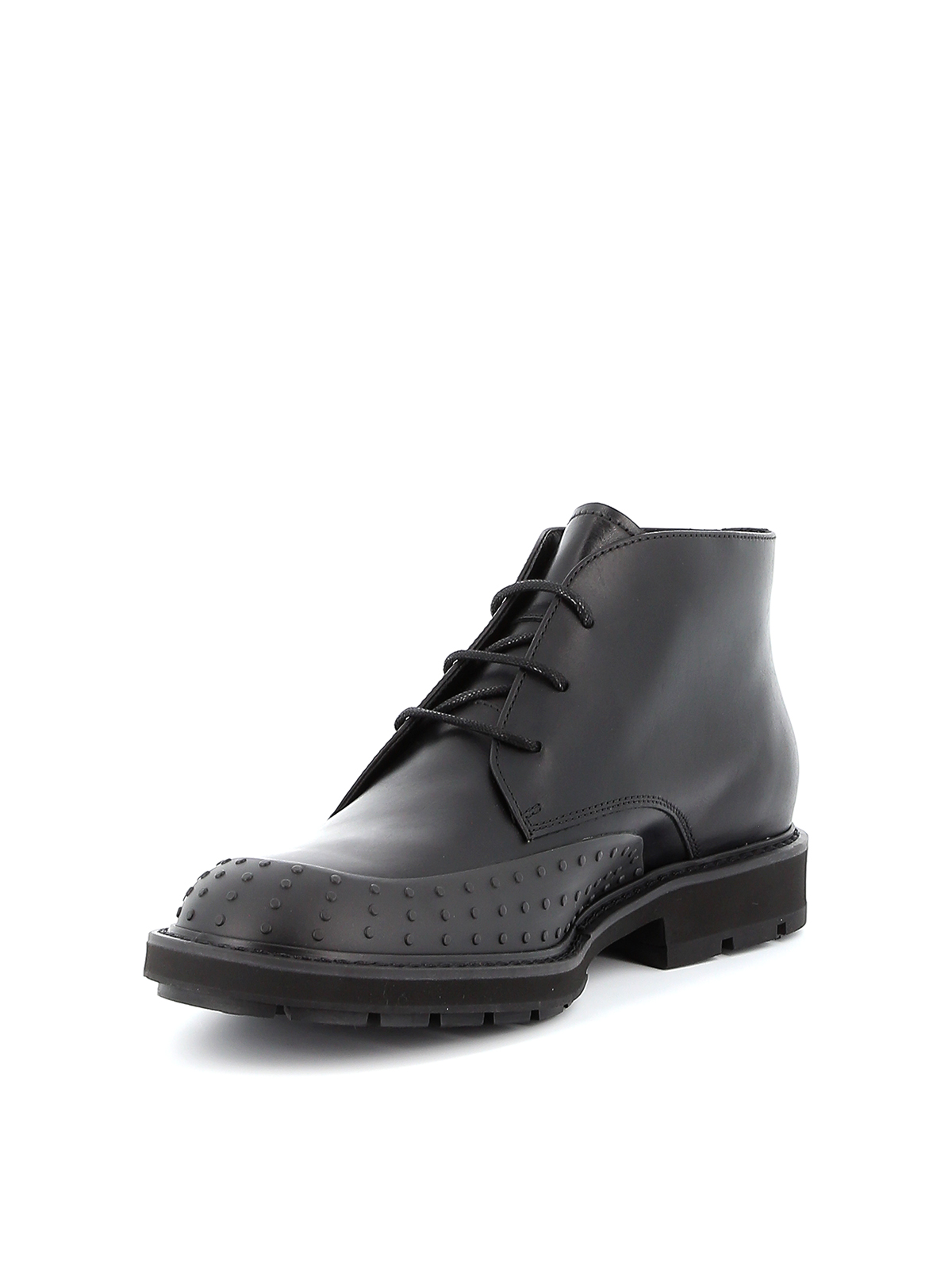 Gommini toe Derby leather desert boots TOD
