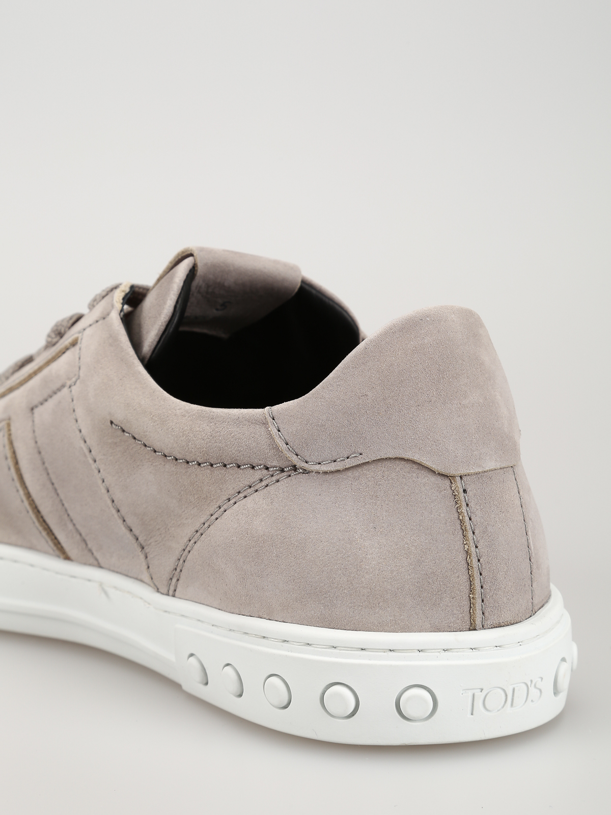 Grey nubuck sneakers with padded T  TOD