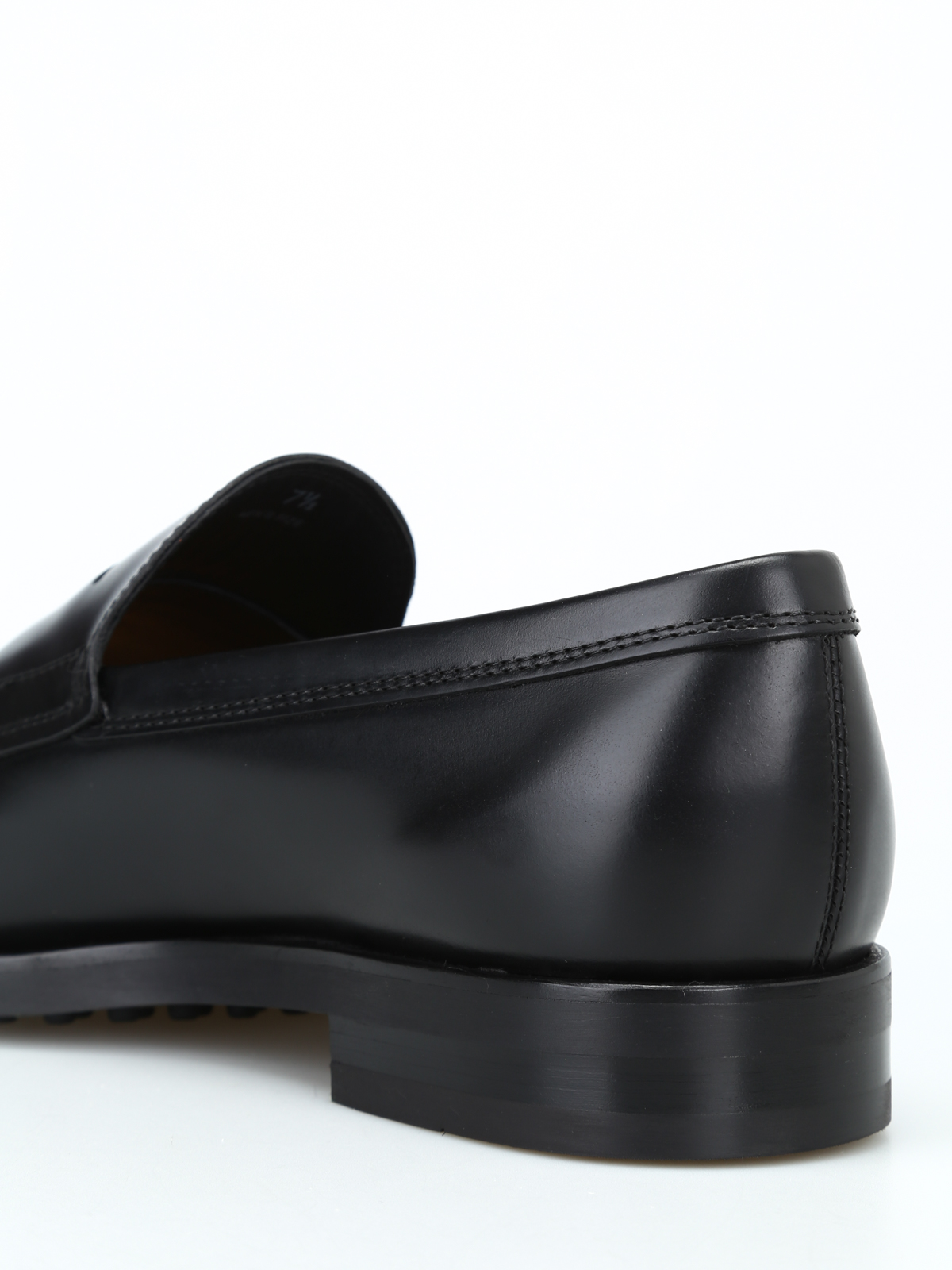 Black leather formal loafers TOD