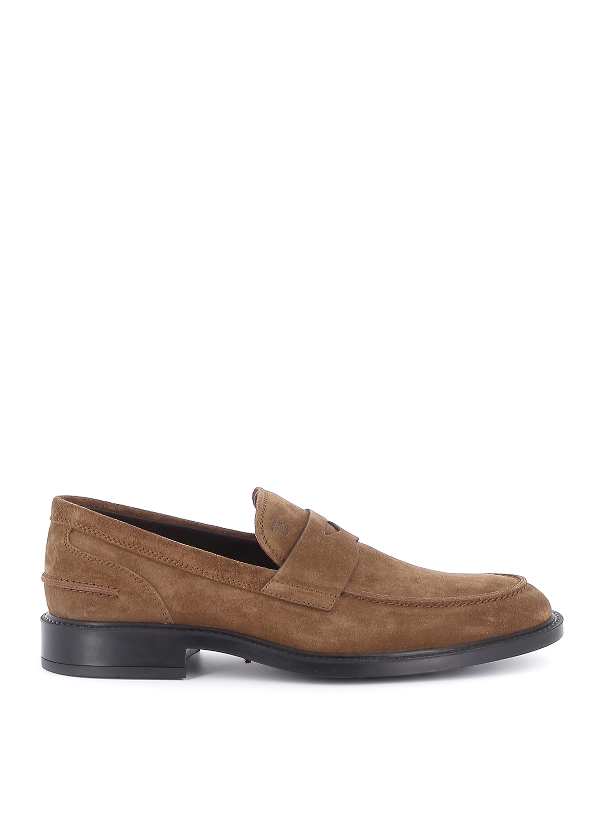 Suede loafers in beige TOD