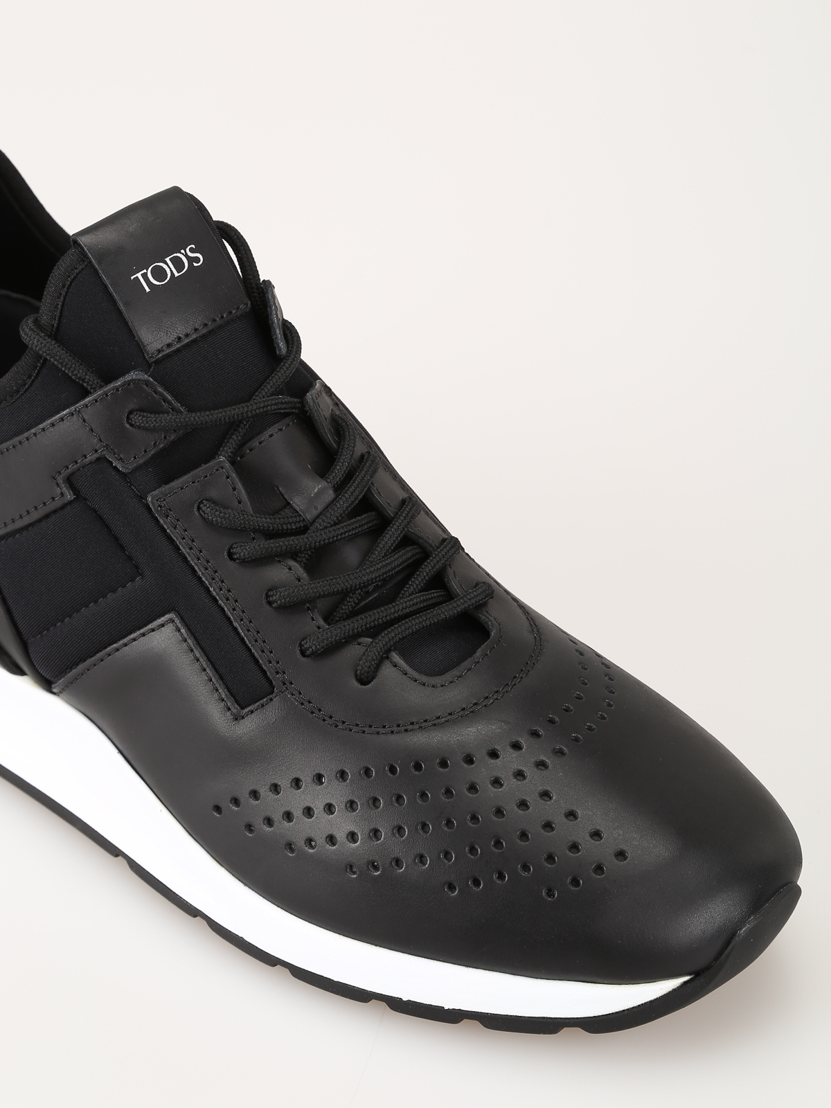 Leather and neoprene sneakers TOD