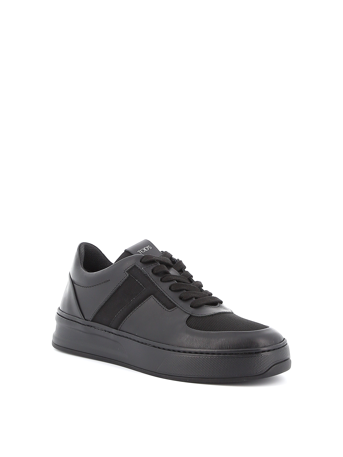 Leather and tech mesh sneakers TOD