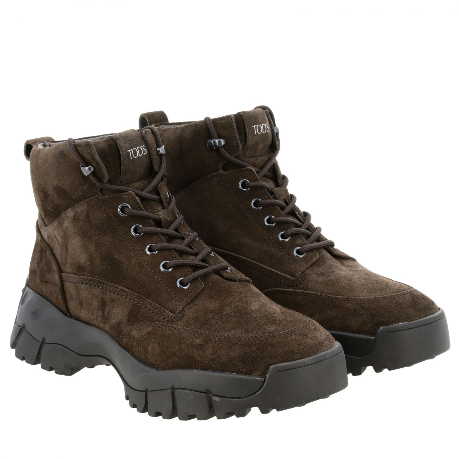 Suede trekking style ankle boots TOD
