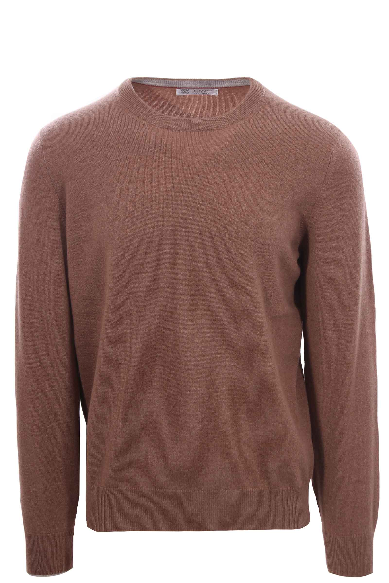 PULLOVER IN PURO CASHMERE  MARRONE M2200100CD723 BRUNELLO CUCINELLI | -1384759495 | M2200100CD723