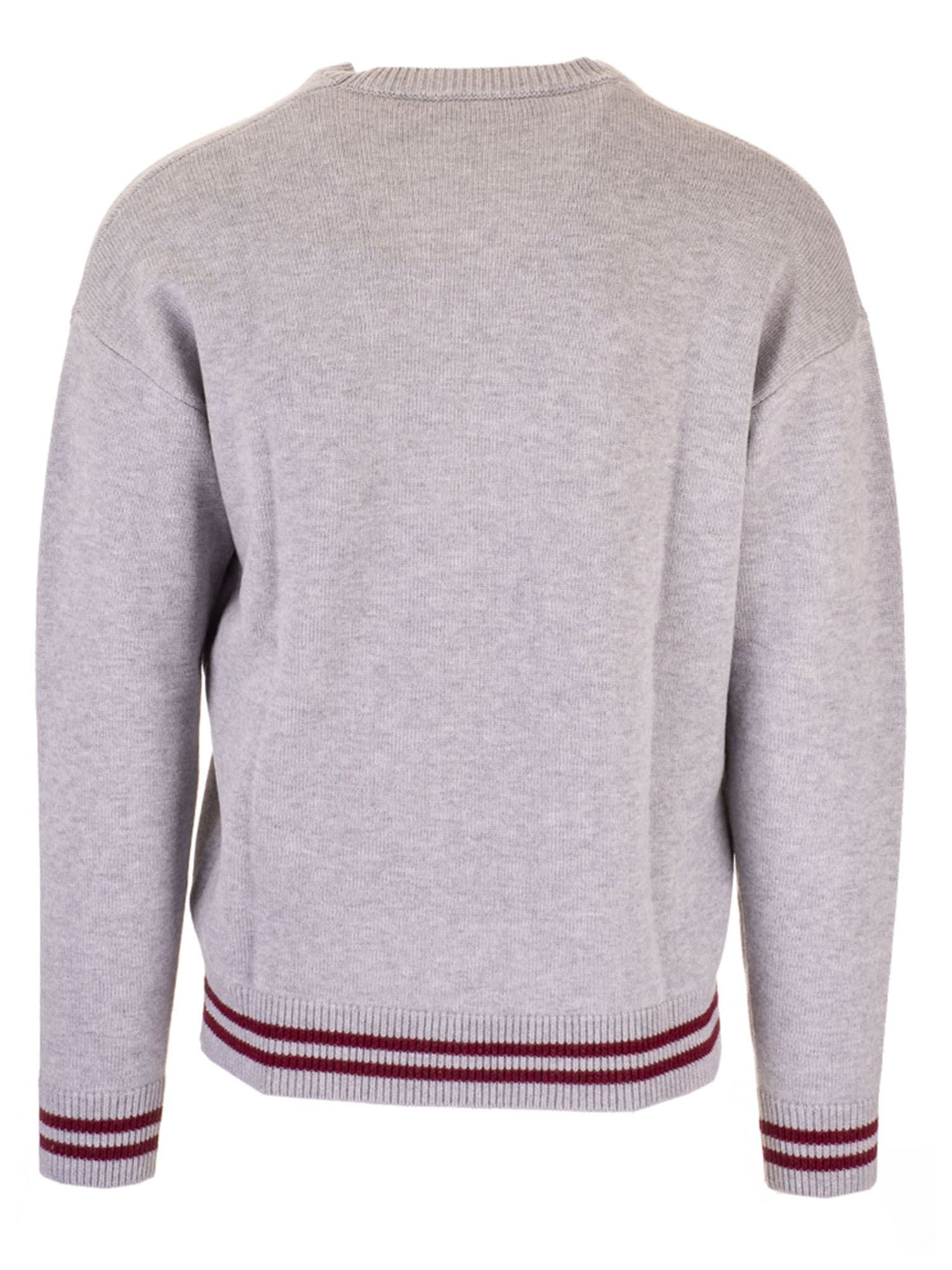 INLAID LOGO SWEATER IN GREY DSQUARED2 | -1384759495 | S74HA1085S17388961