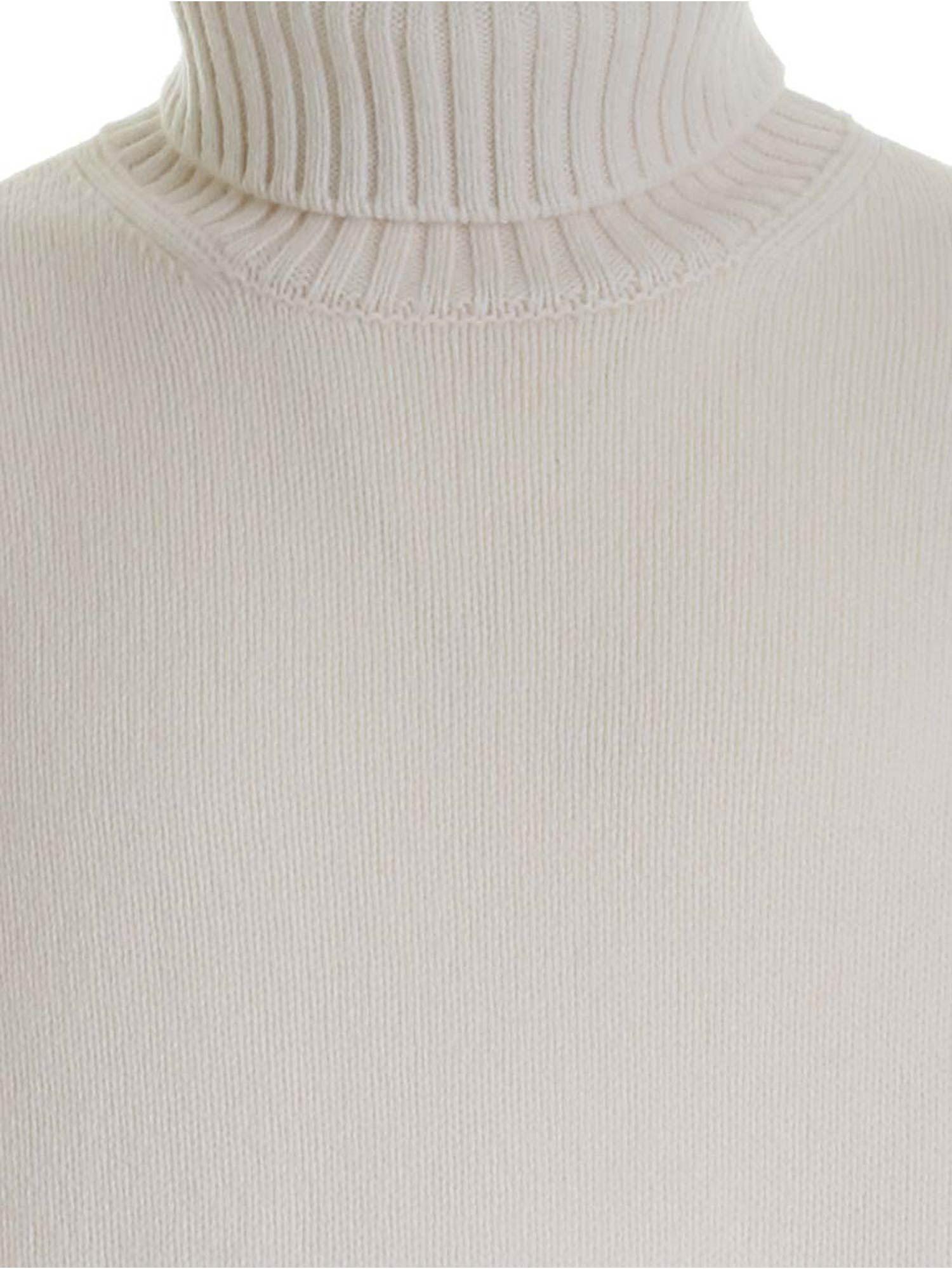 RIBBED EDGES TURTLENECK IN WHITE FAY | 10000016 | NMMC1412780SCYB004