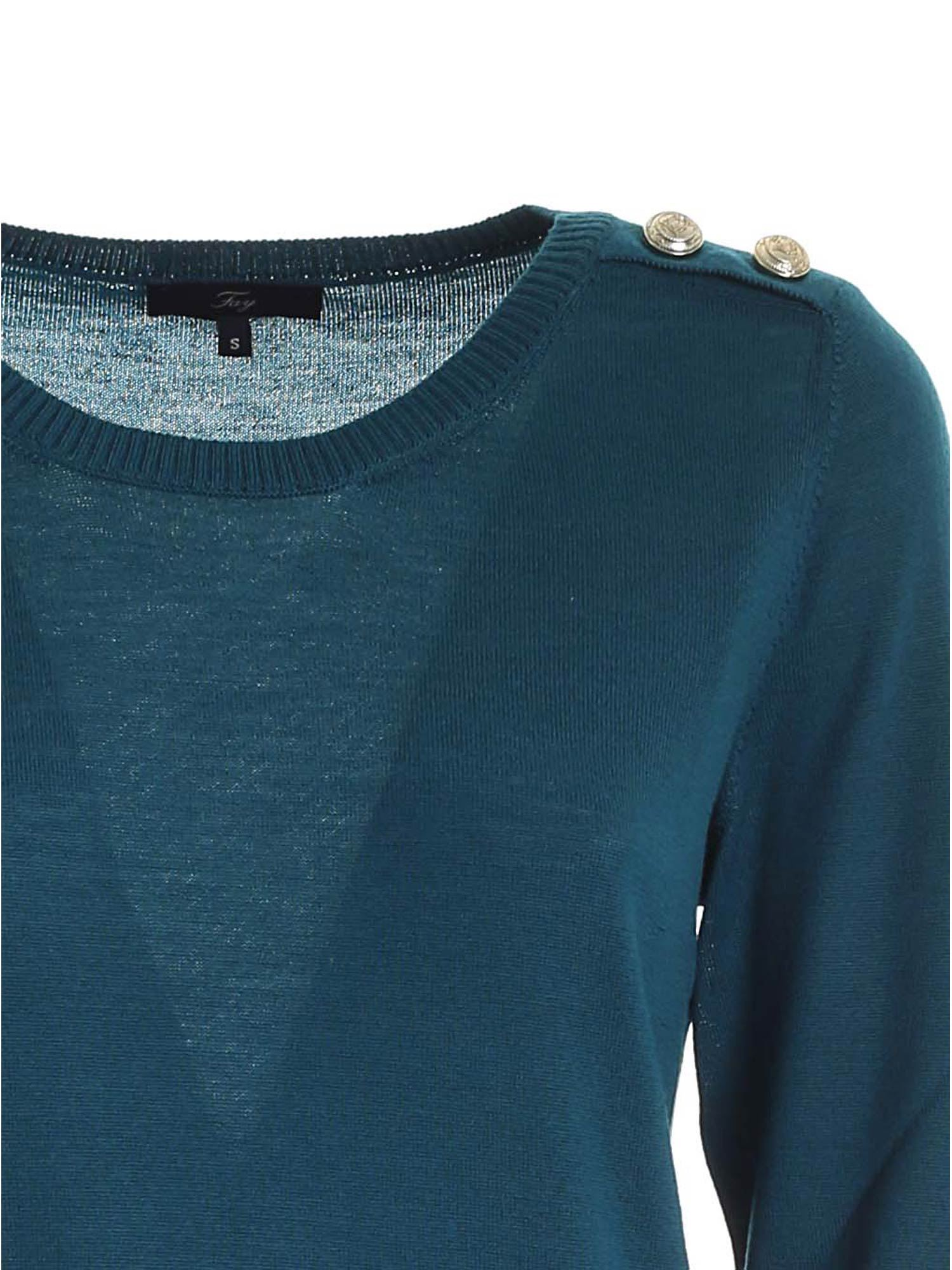 LIGHT YARN PULLOVER IN BLUE FAY | -1384759495 | NMWC1416330RDOT600
