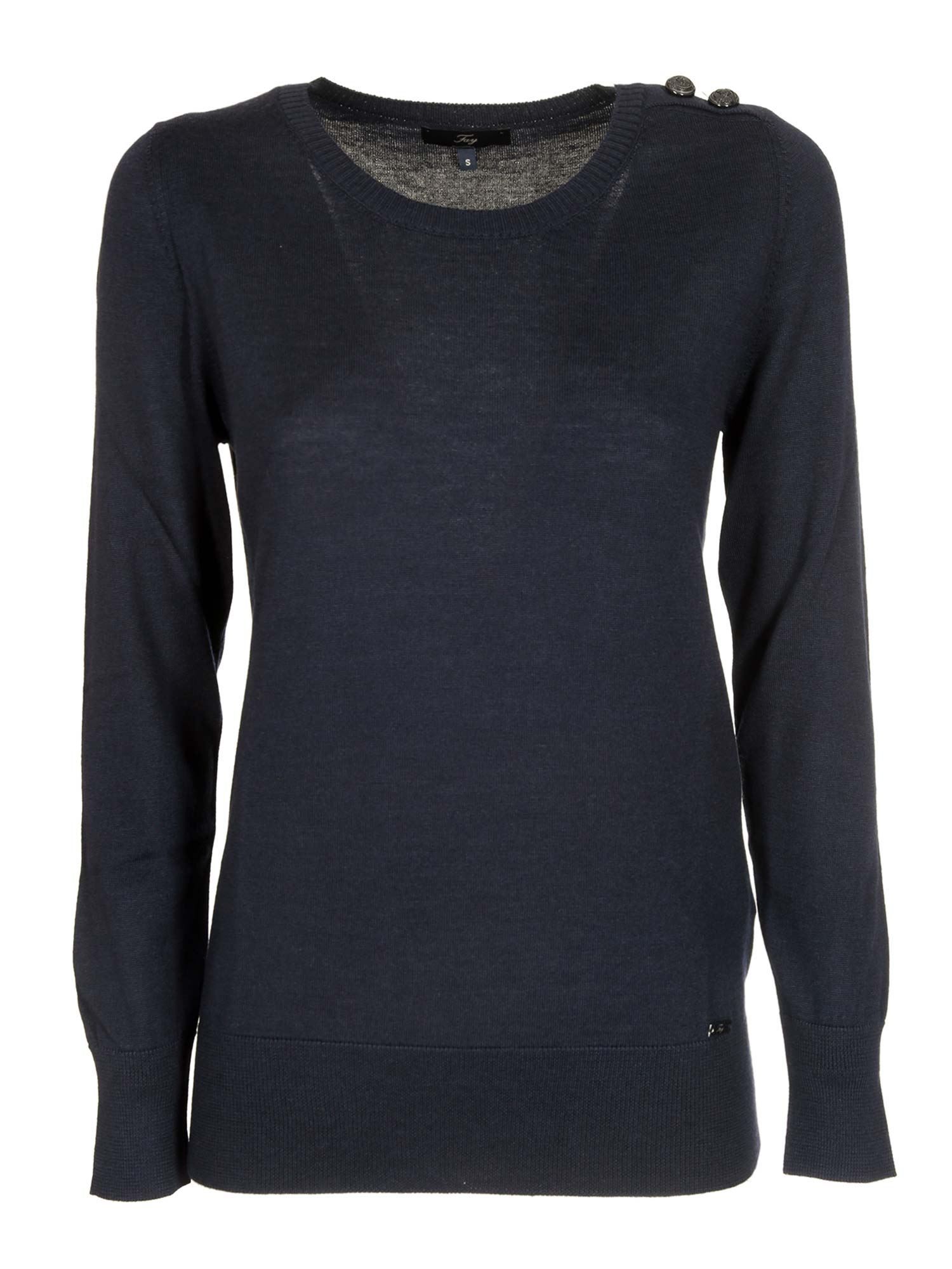 BUTTONED SWEATER IN BLUE FAY | -1384759495 | NMWC1416330RDOU807