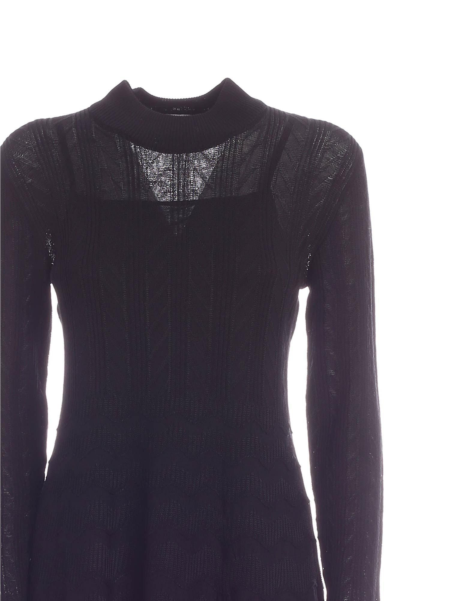 SEMITRANSPARENT DRESS IN BLACK M MISSONI | 11 | 2DG004952K007893911