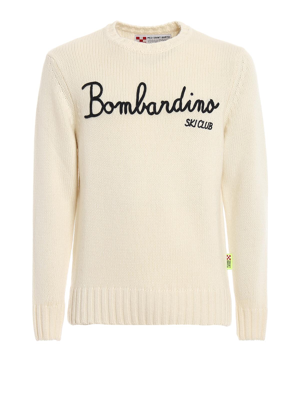 PULLOVER BOMBARDINO SKI CLUB BIANCO BOMBARDINOEMSK10 MC2 SAINT BARTH | -1384759495 | BOMBARDINOEMSK10