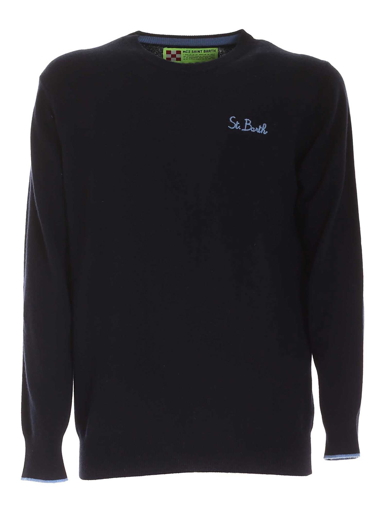 CREWNECK PULLOVER IN DARK BLUE MC2 SAINT BARTH | -1384759495 | HERONLIGHTSB6131