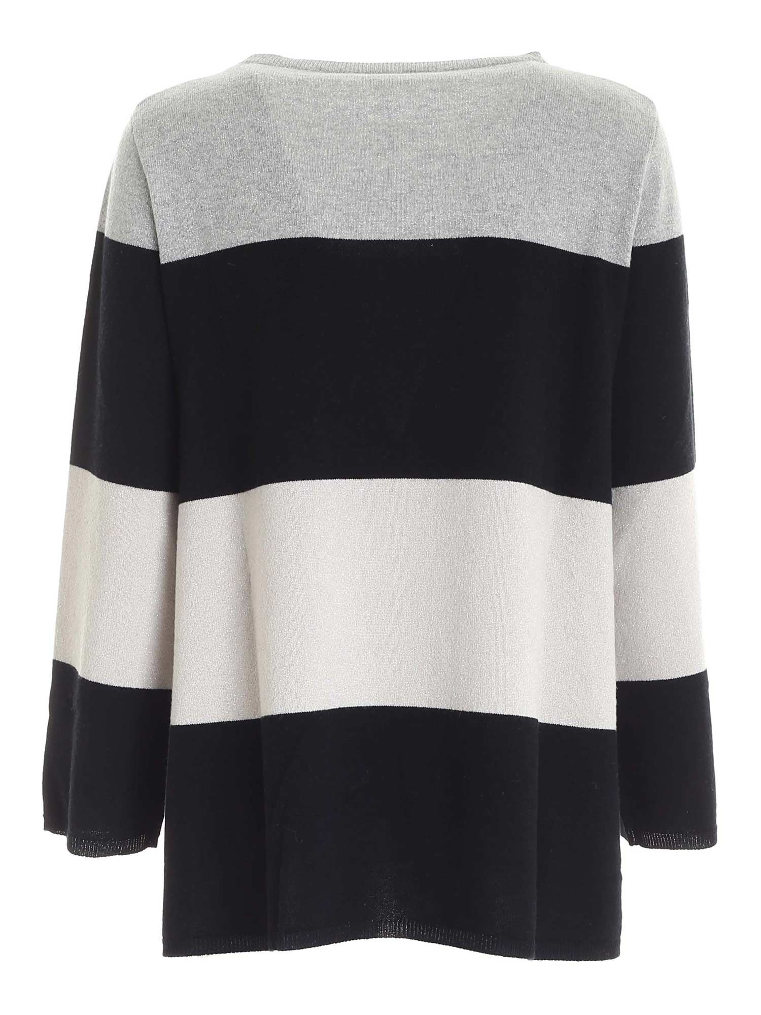 LAMÉ DETAILS PULLOVER IN BLACK, GREY AND BEIGE PAOLO FIORILLO CAPRI | -1384759495 | 15311300013
