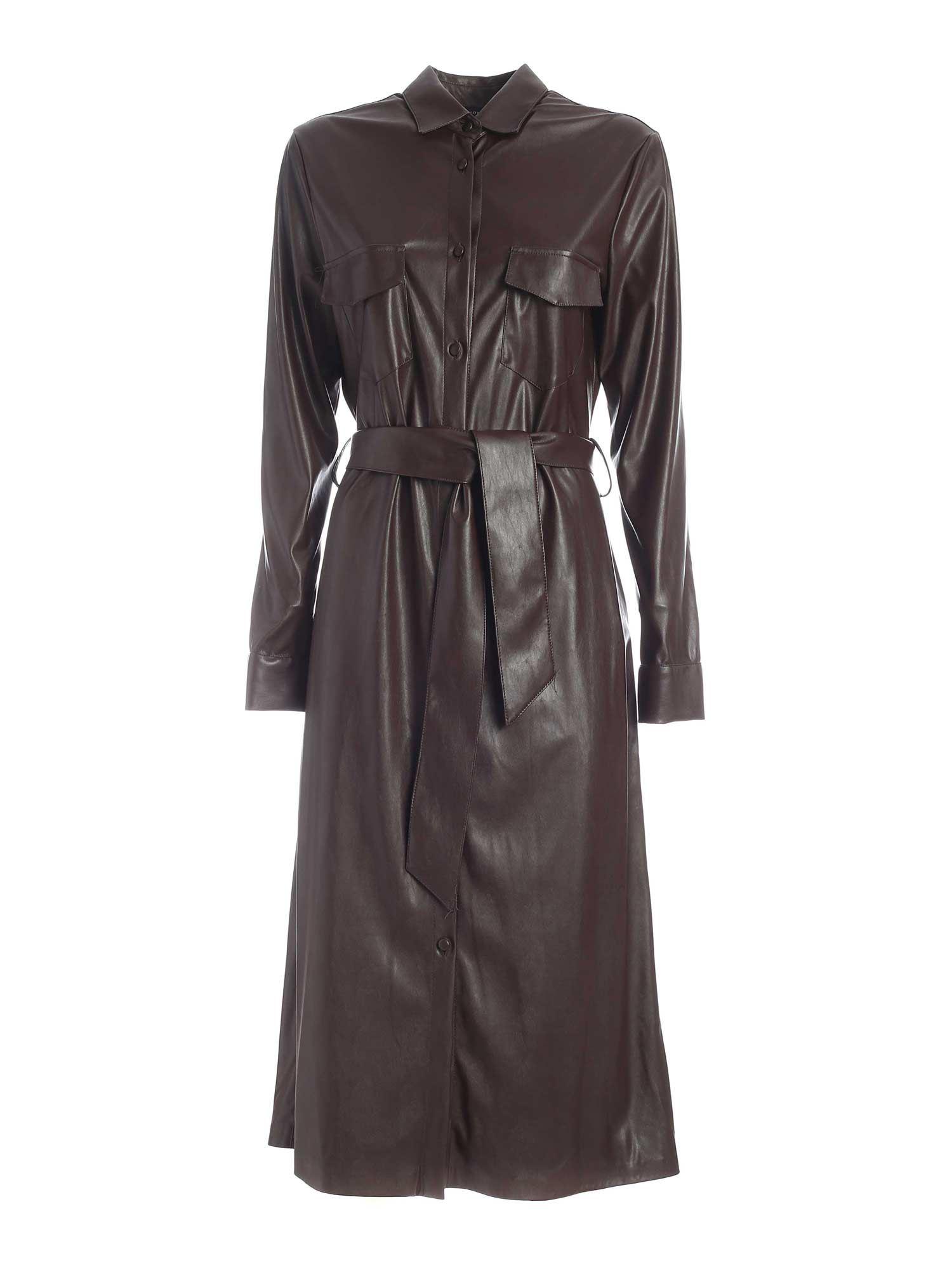SHIRT DRESS IN COFFEE COLOR PAOLO FIORILLO CAPRI | 11 | 2262T29091890