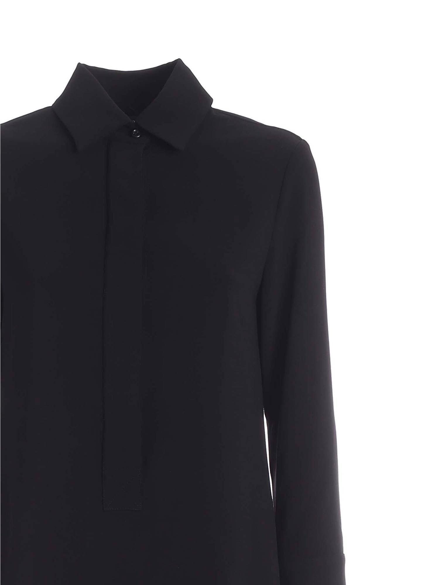 SHIRT DRESS IN BLACK PAOLO FIORILLO CAPRI | 11 | 25662221019