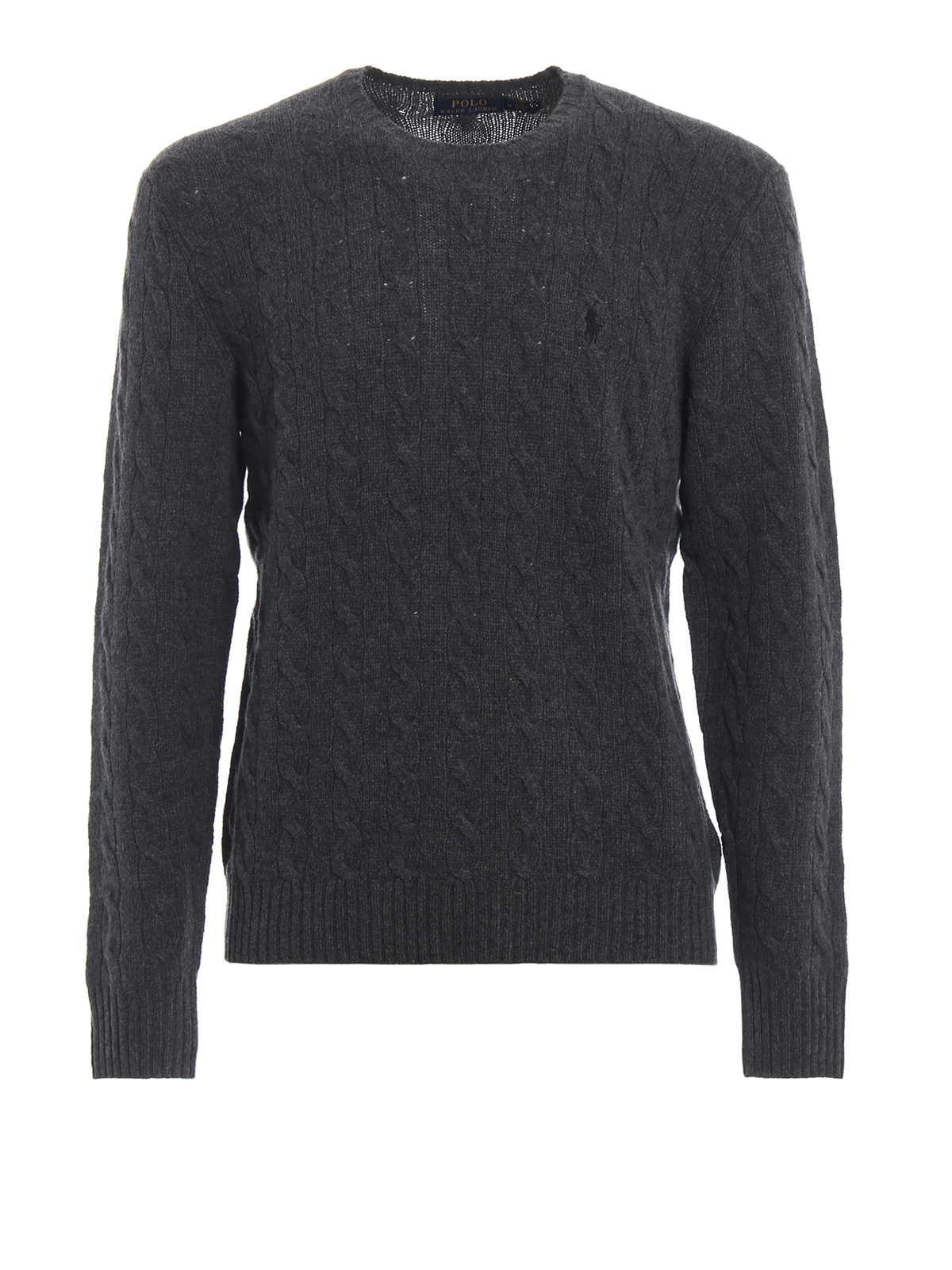 CABLE KNITTED PULLOVER IN DARK GREY POLO RALPH LAUREN | -1384759495 | 710719546002