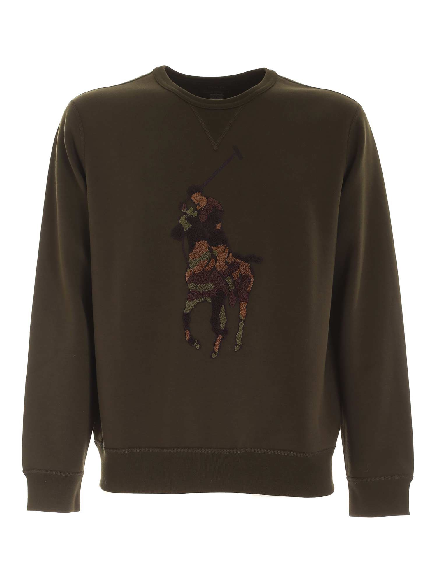 EMBROIDERY CREWNECK SWEATSHIRT IN GREEN POLO RALPH LAUREN | -108764232 | 710766862019