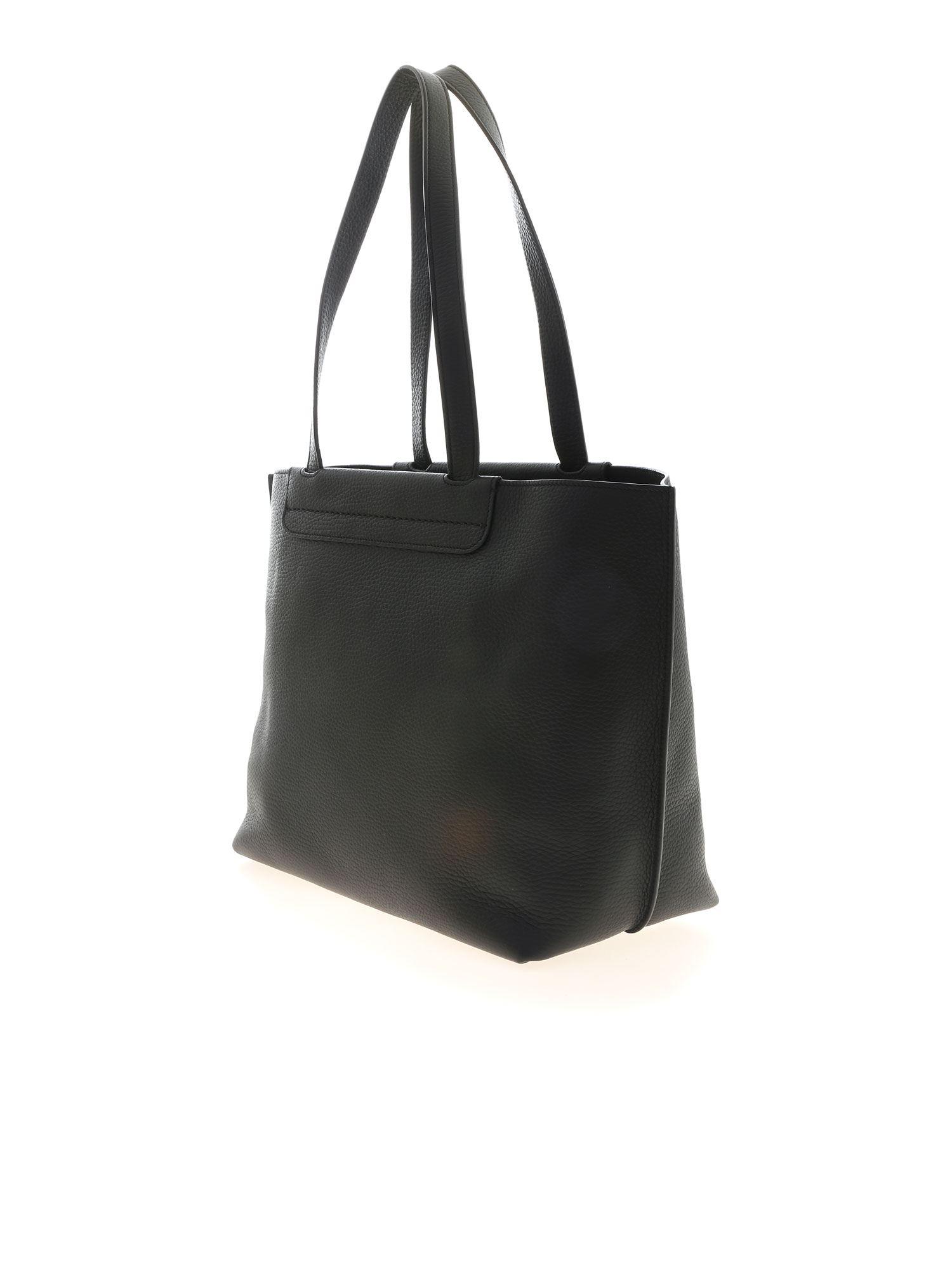 MEDIUM SHOPPER BAG IN BLACK TOD