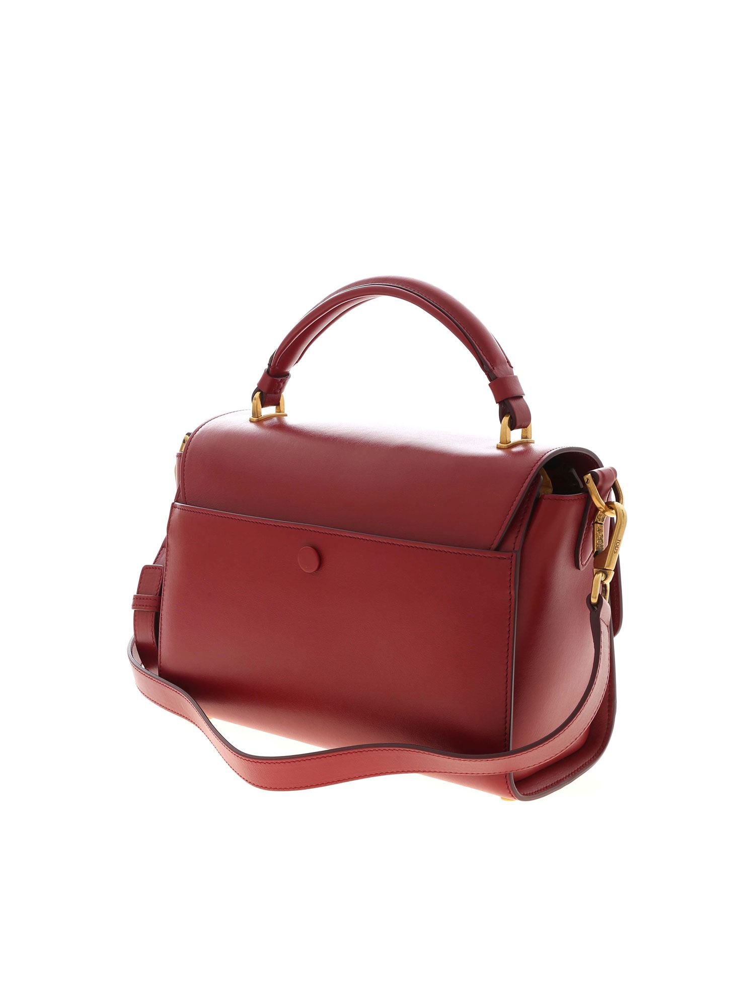 MESSENGER SMALL HANDBAG IN BURGUNDY TOD