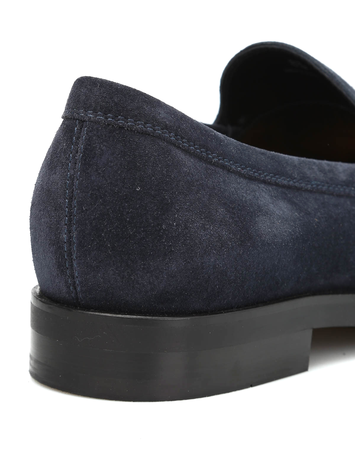 BLUE LOAFERS IN SUEDE  TOD