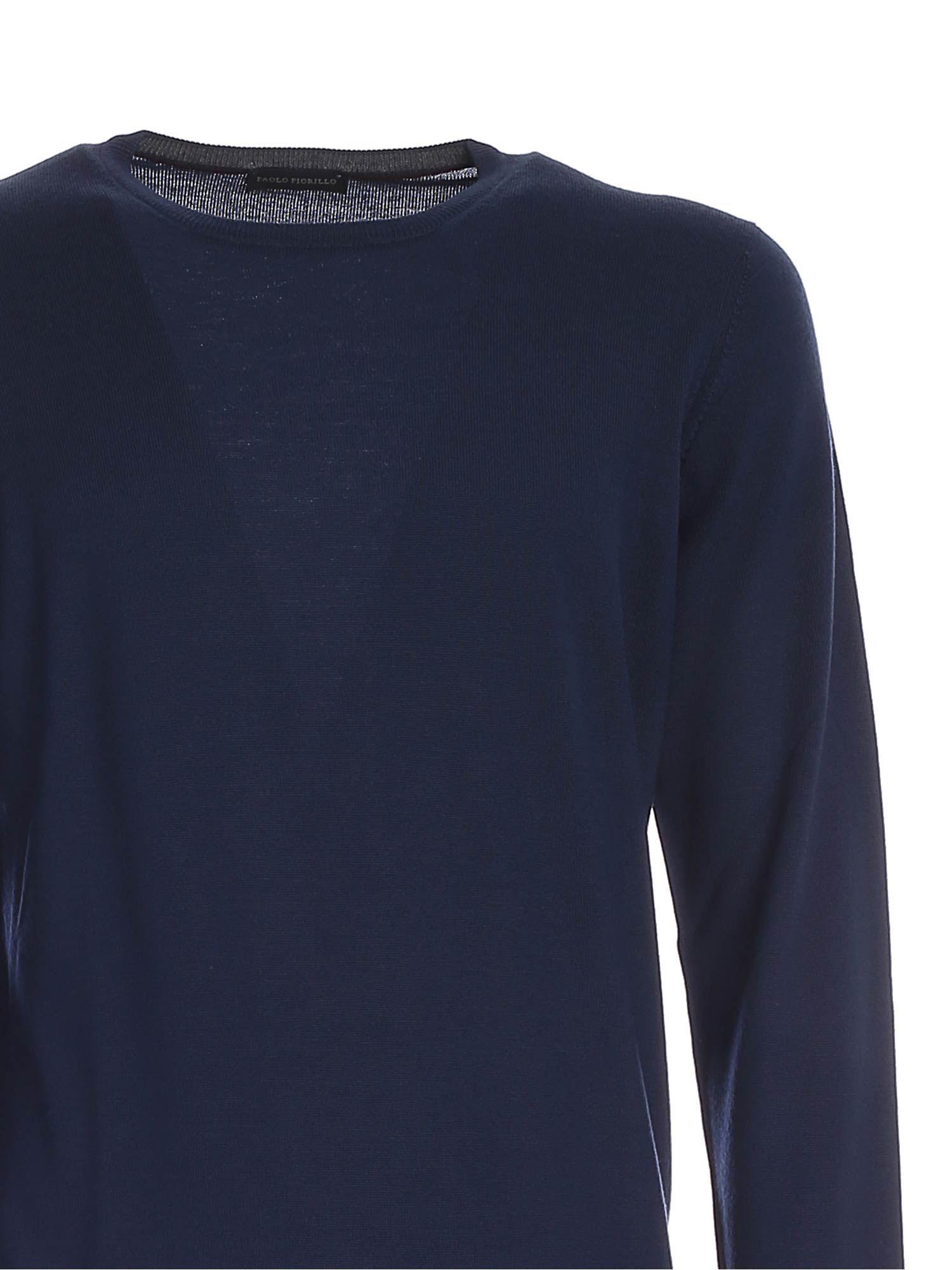 CREWNECK SWEATER IN BLUE PAOLO FIORILLO CAPRI | 1 | 5516714290573