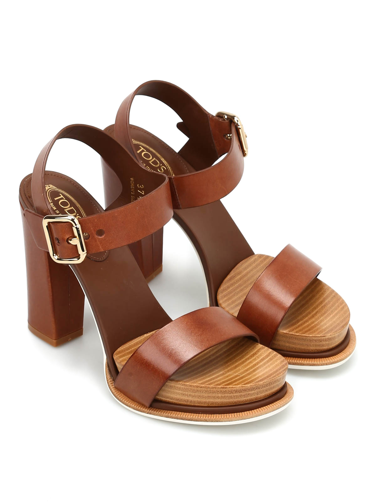 Printed Leather Sandals with Plateau Spring/summer Tod's fZPIe