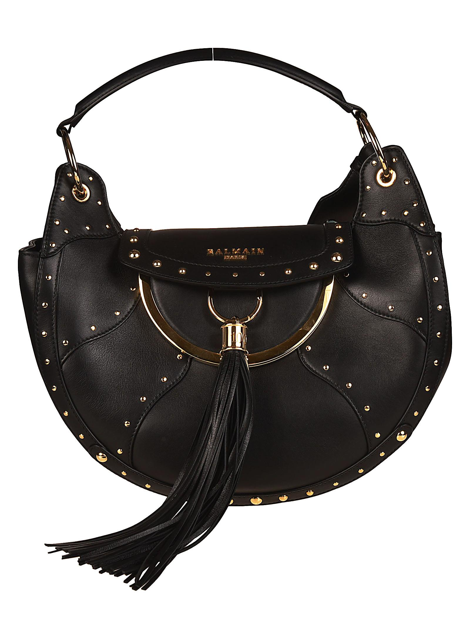 Balmain Leather tote with coin purse WSa1XETSd