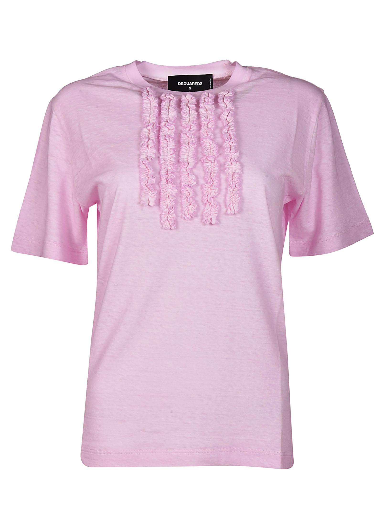 Visit Cheap Online White and pink ruffled t-shirt Dsquared2 For Sale Discount Sale 2018 New For Sale ox67JZWk