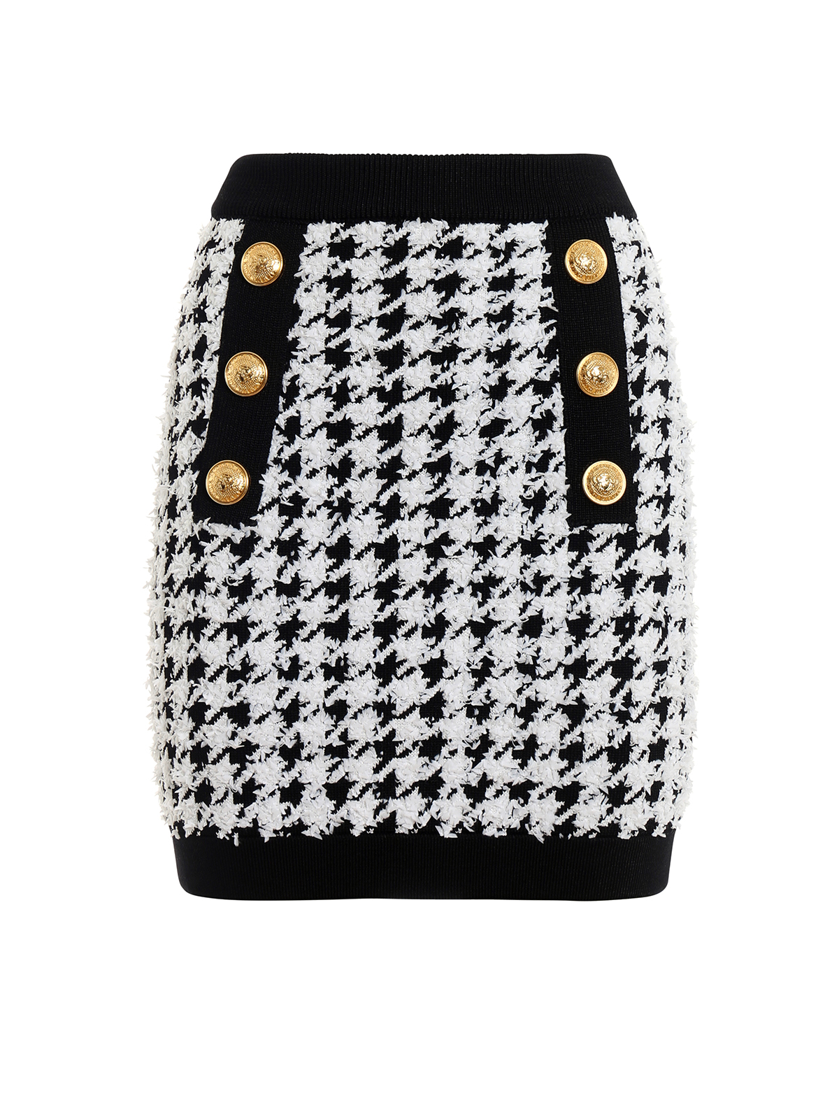 f22742ef Houndstooth stretch jersey mini skirt - BALMAIN - Paolo Fiorillo