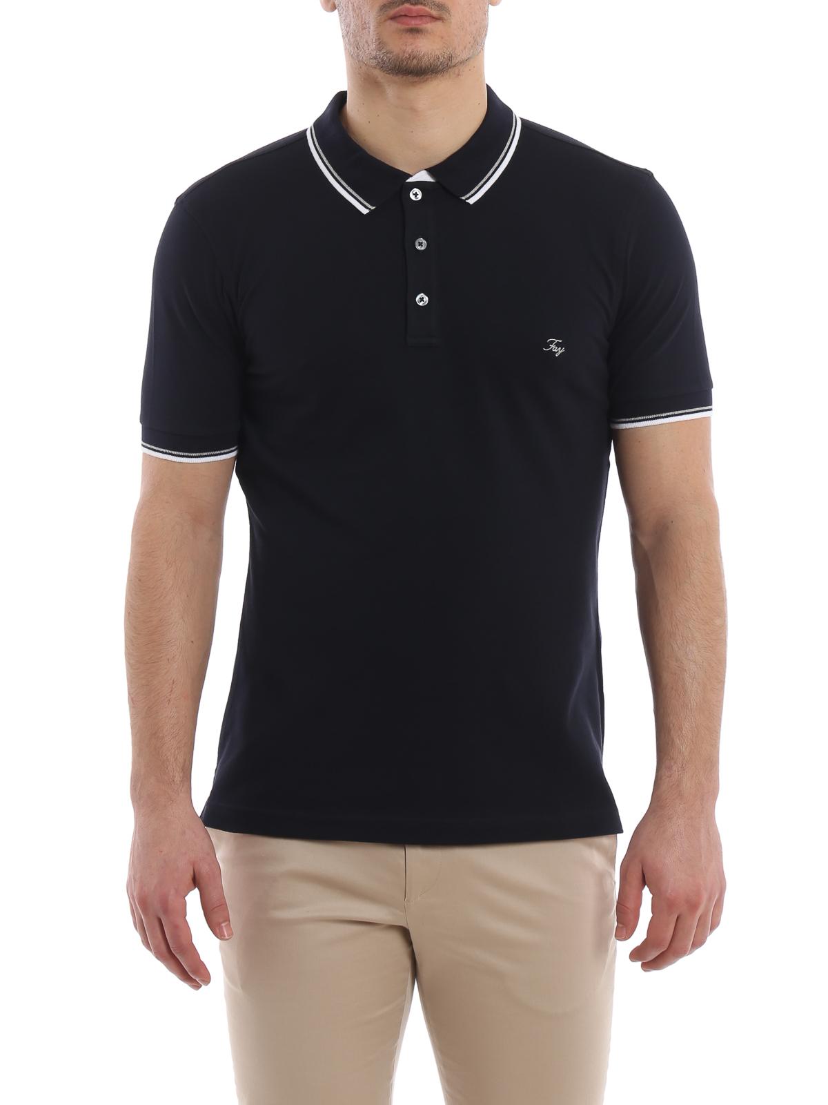 Double collar dark blue polo shirt FAY | 2 | NPMB238140SITOU809