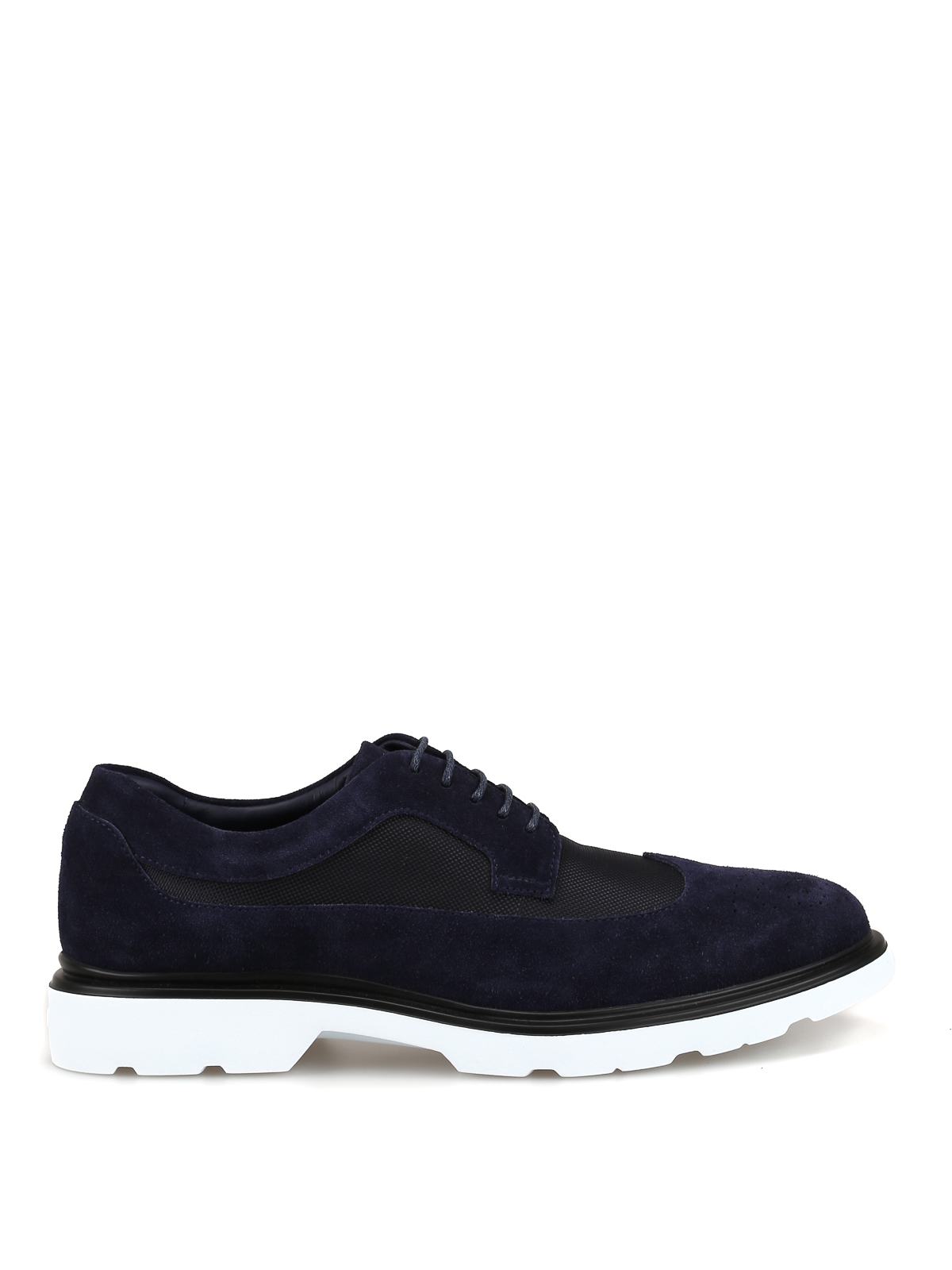 Blue ultralight lace-up Derby shoes <br>