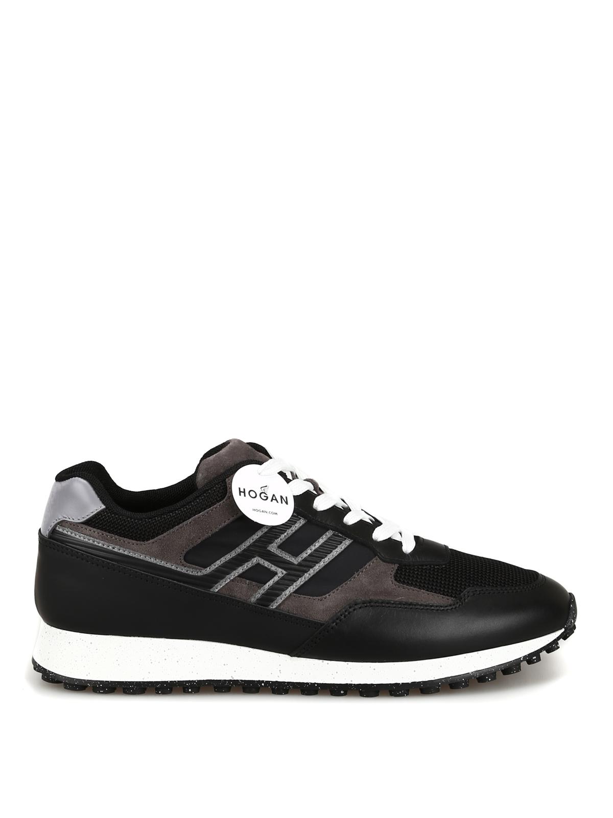 79e425dd5b H383 black leather sneakers - HOGAN scarpe - Paolo Fiorillo