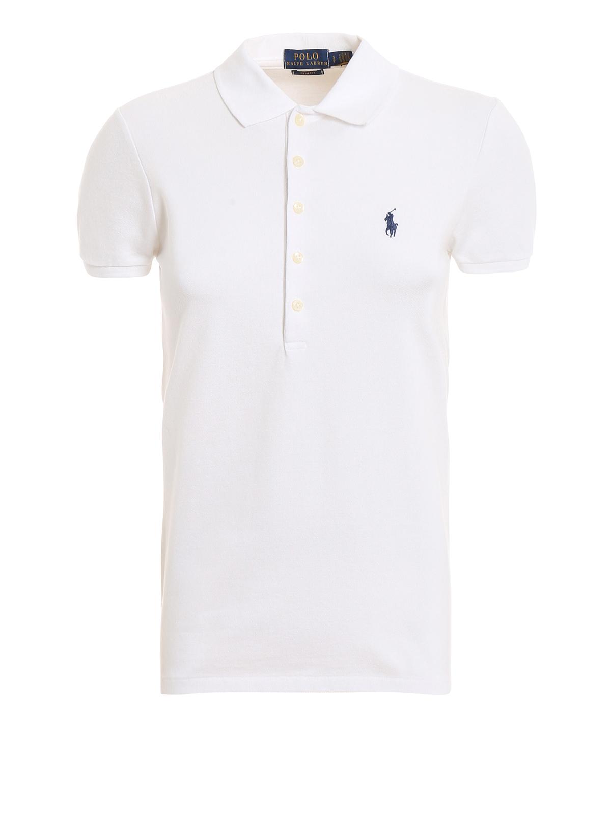 7ef5cd7aa Slim fit white cotton polo shirt - POLO RALPH LAUREN - Paolo Fiorillo