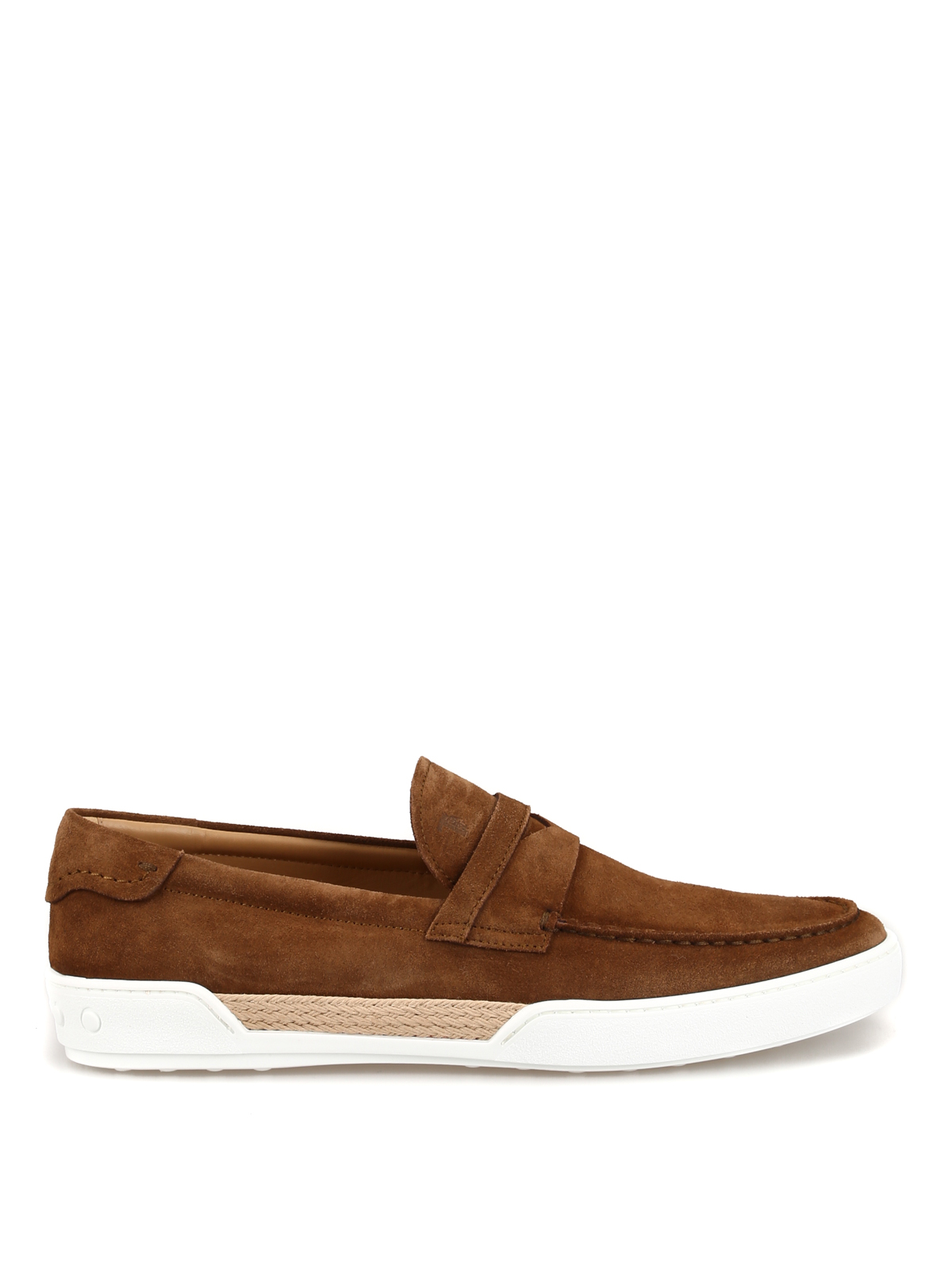 2622ebe3c4c Brown suede loafer style sneakers - TOD S - Paolo Fiorillo