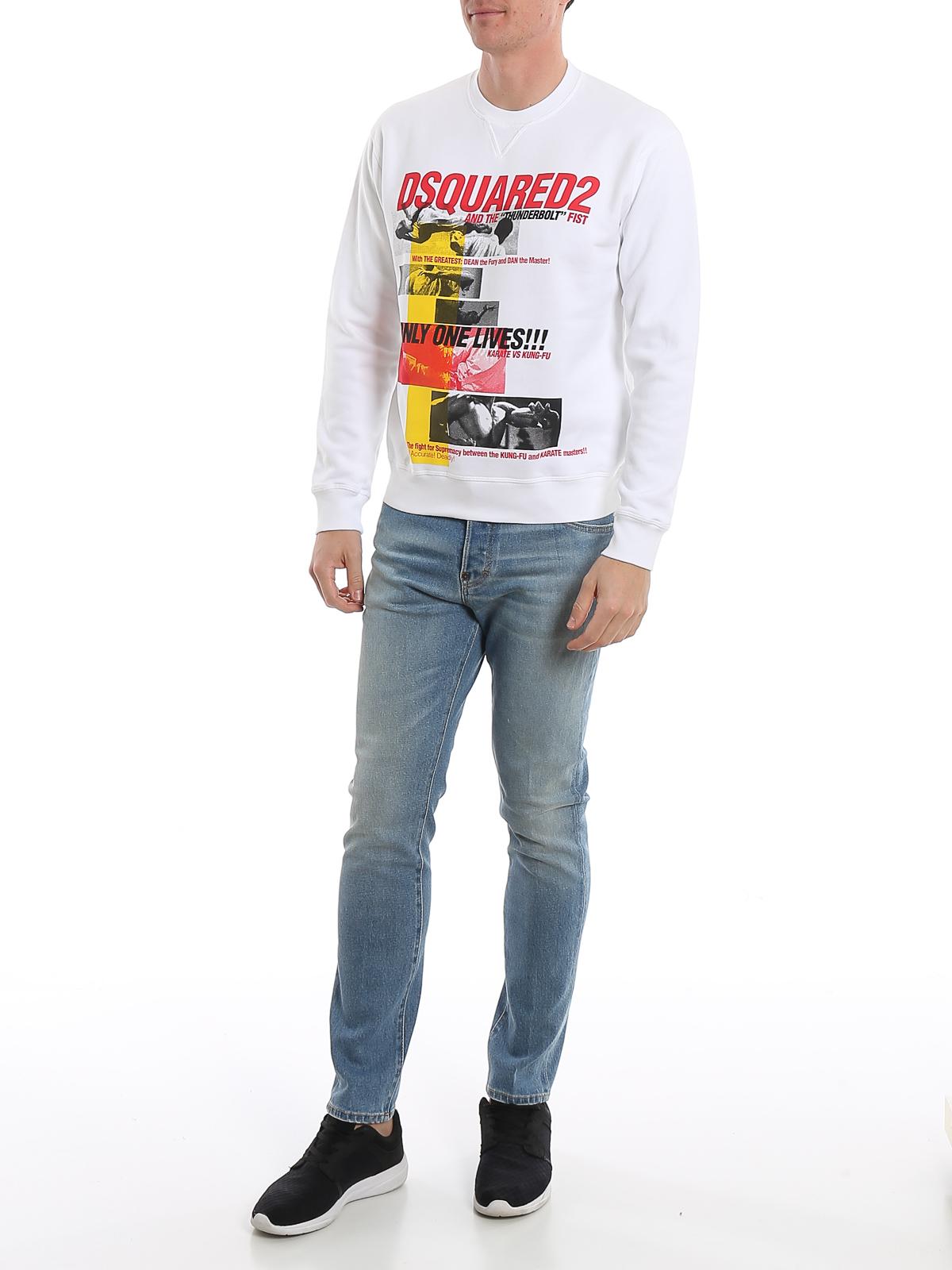 Kung Fu print cotton sweatshirt DSQUARED2 | -108764232 | S71GU0363S25042100