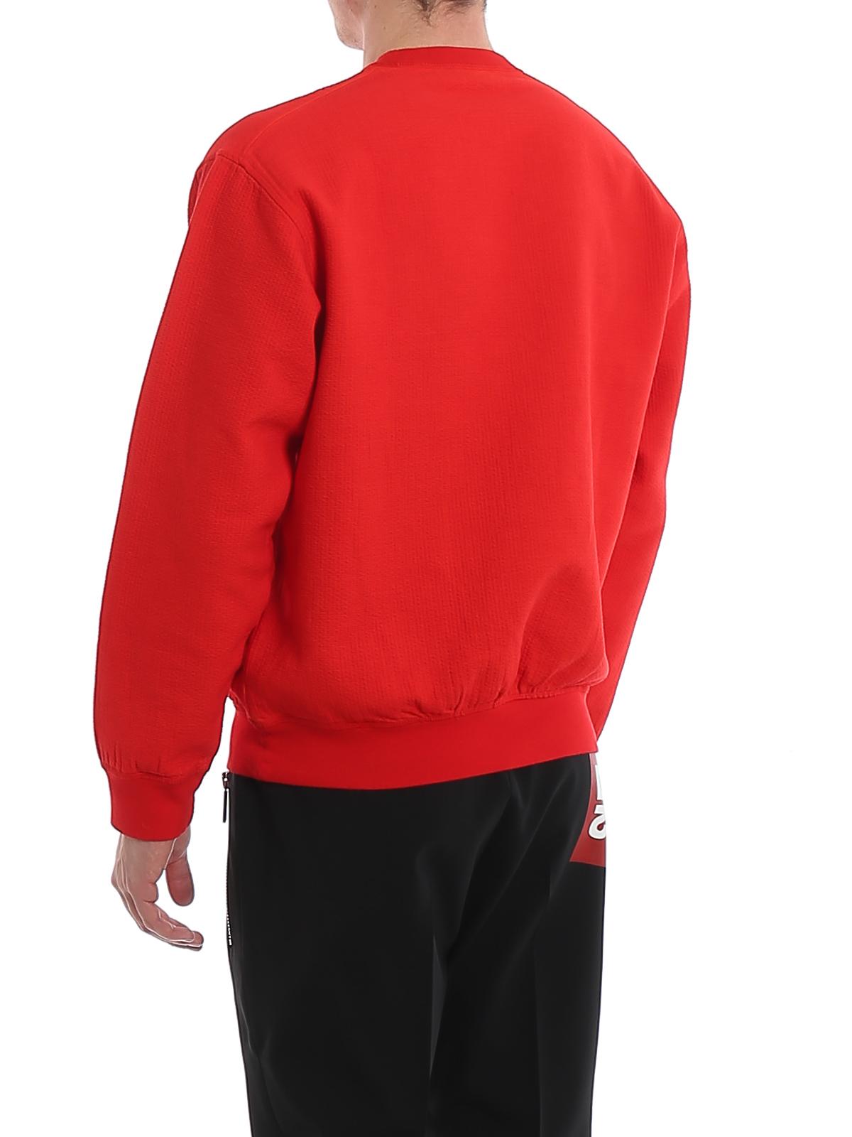Logo patch cotton sweatshirt DSQUARED2 | -108764232 | S74GD0629S52235313